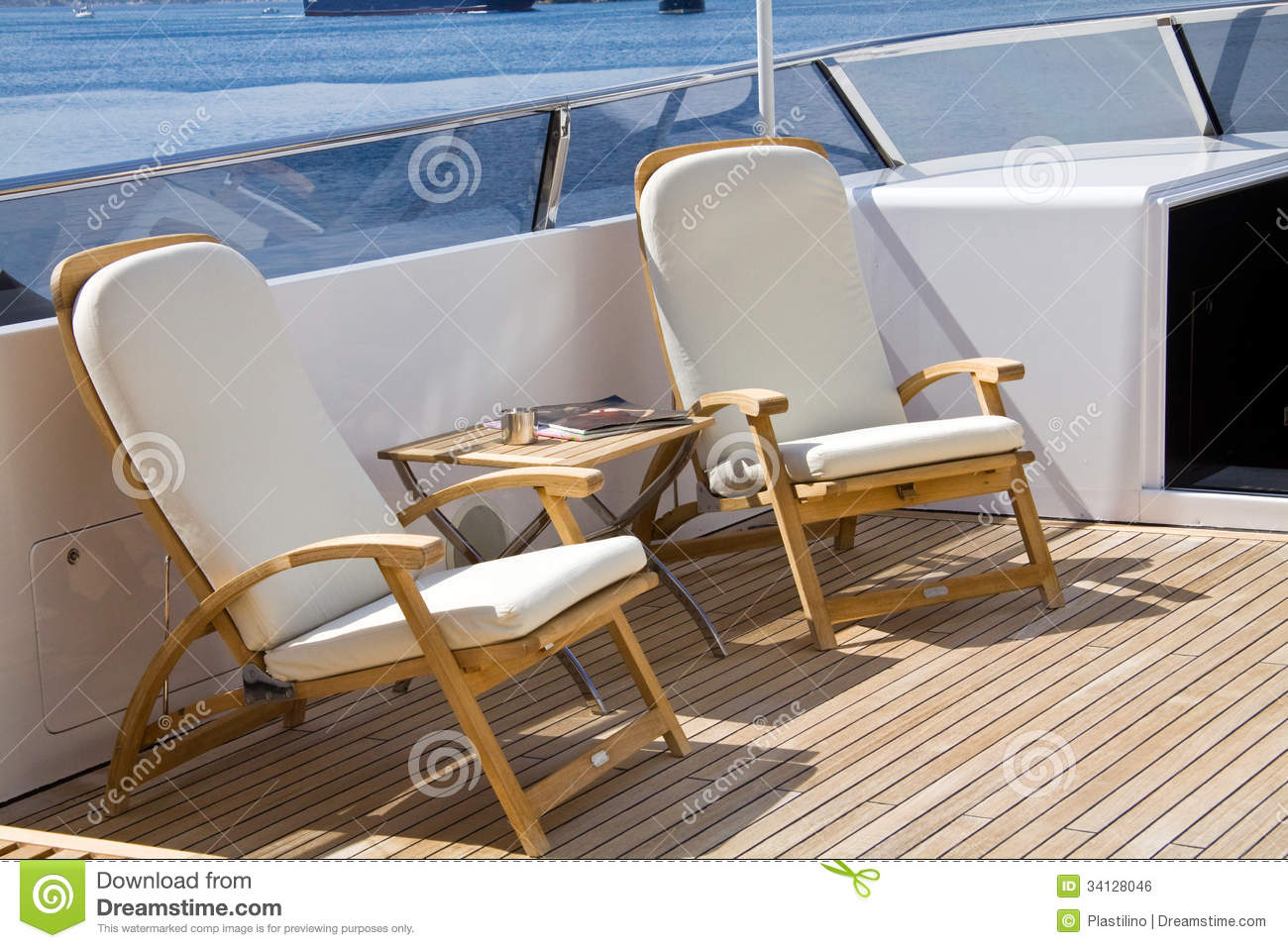 Sun On Deck Stock Photo Image Of Chair Tranquil View