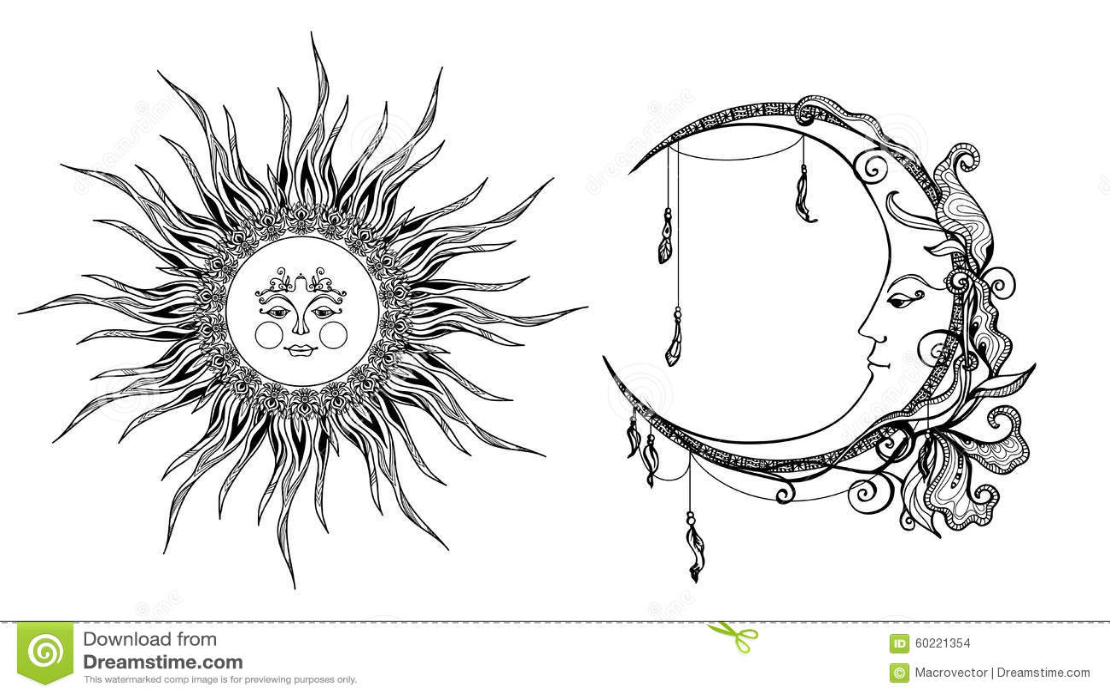 Sun decorativo e lua