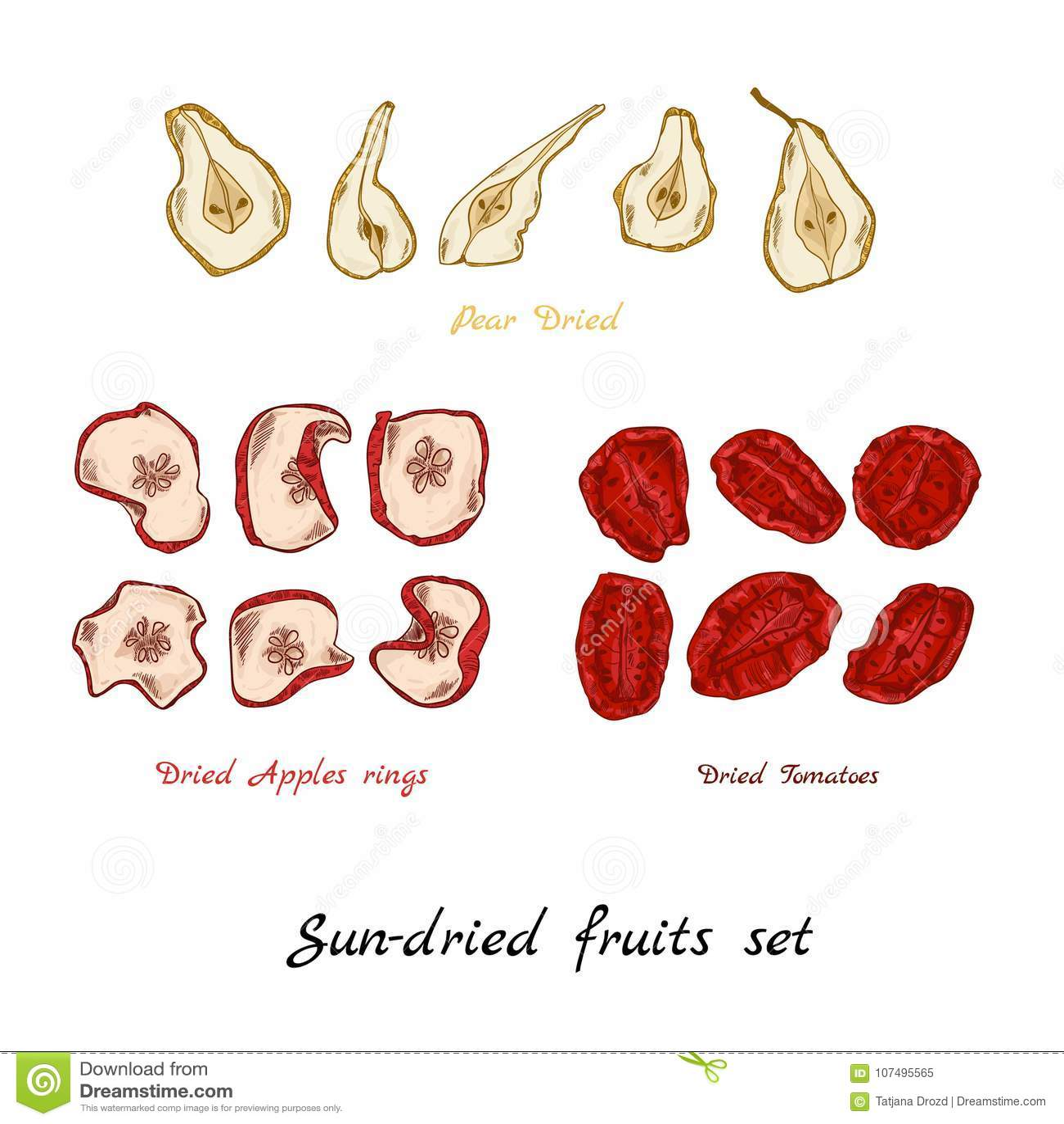 Sun-dried fruit