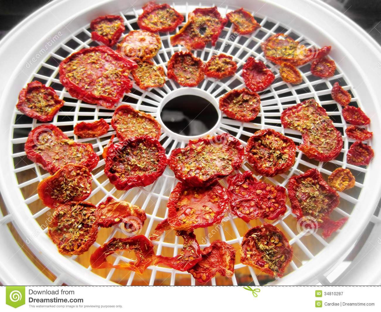 Sun Dried Tomatoes Food Dehydrator Stock Image Image Of Delicious Cuisine 34810287