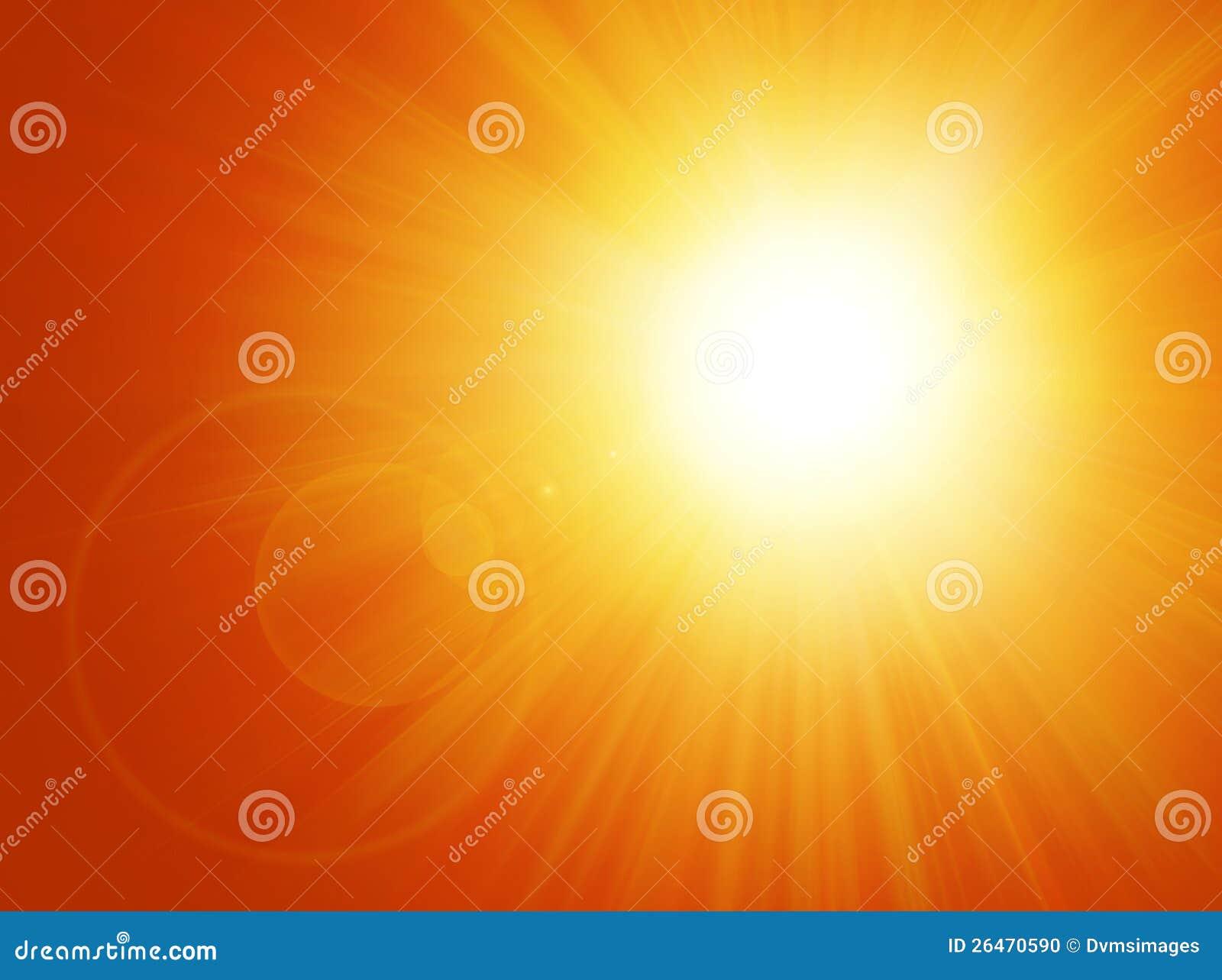 Sun e fundo do alargamento