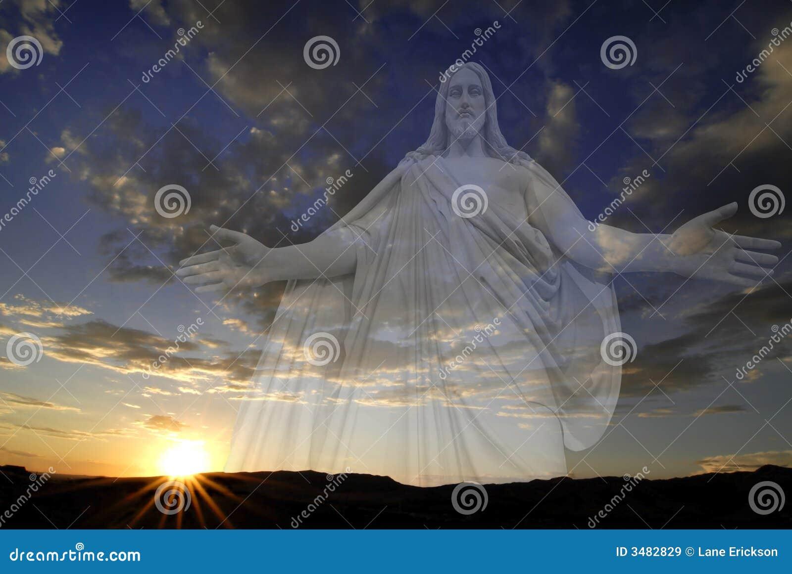Sun-Einstellung mit Jesus
