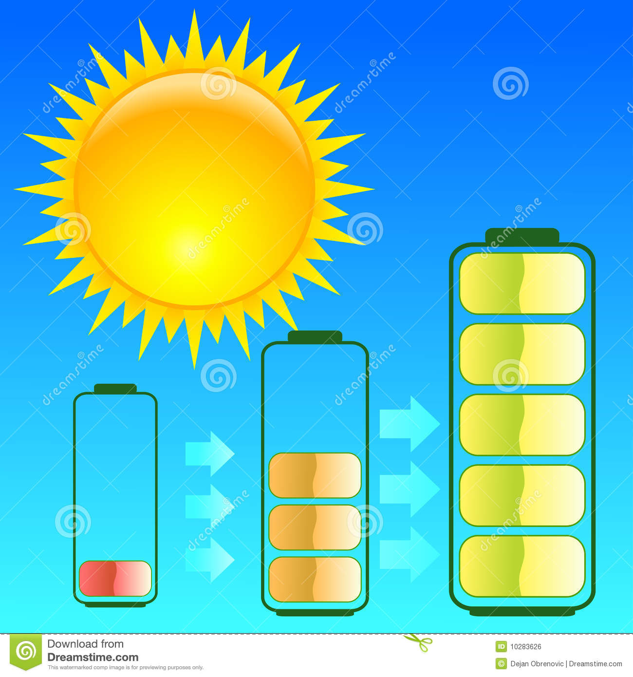 Sun energy stock vector illustration of energy concept for What is solar power for kids