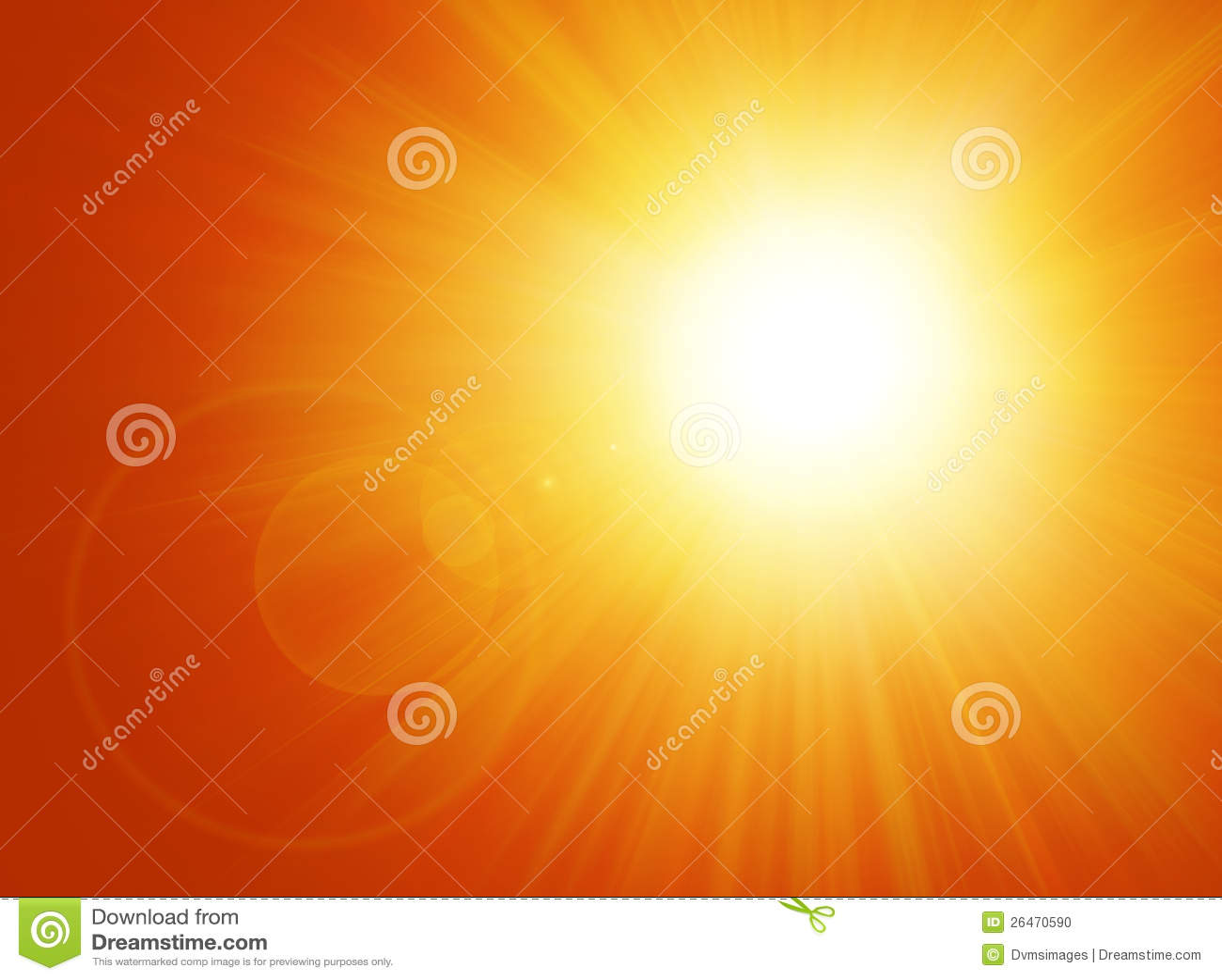 Sun et fond d épanouissement