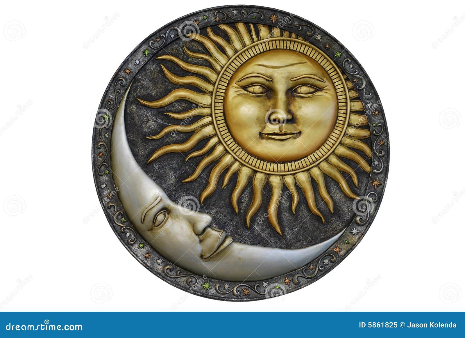 Sun et lune - d isolement