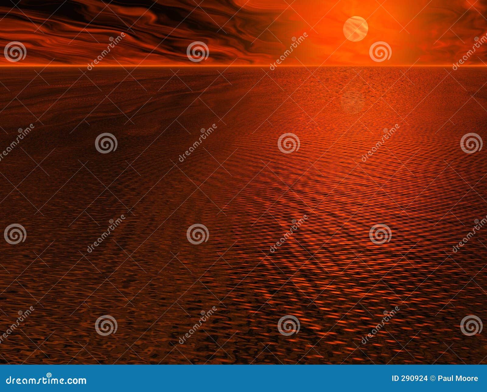 Sun för röda hav