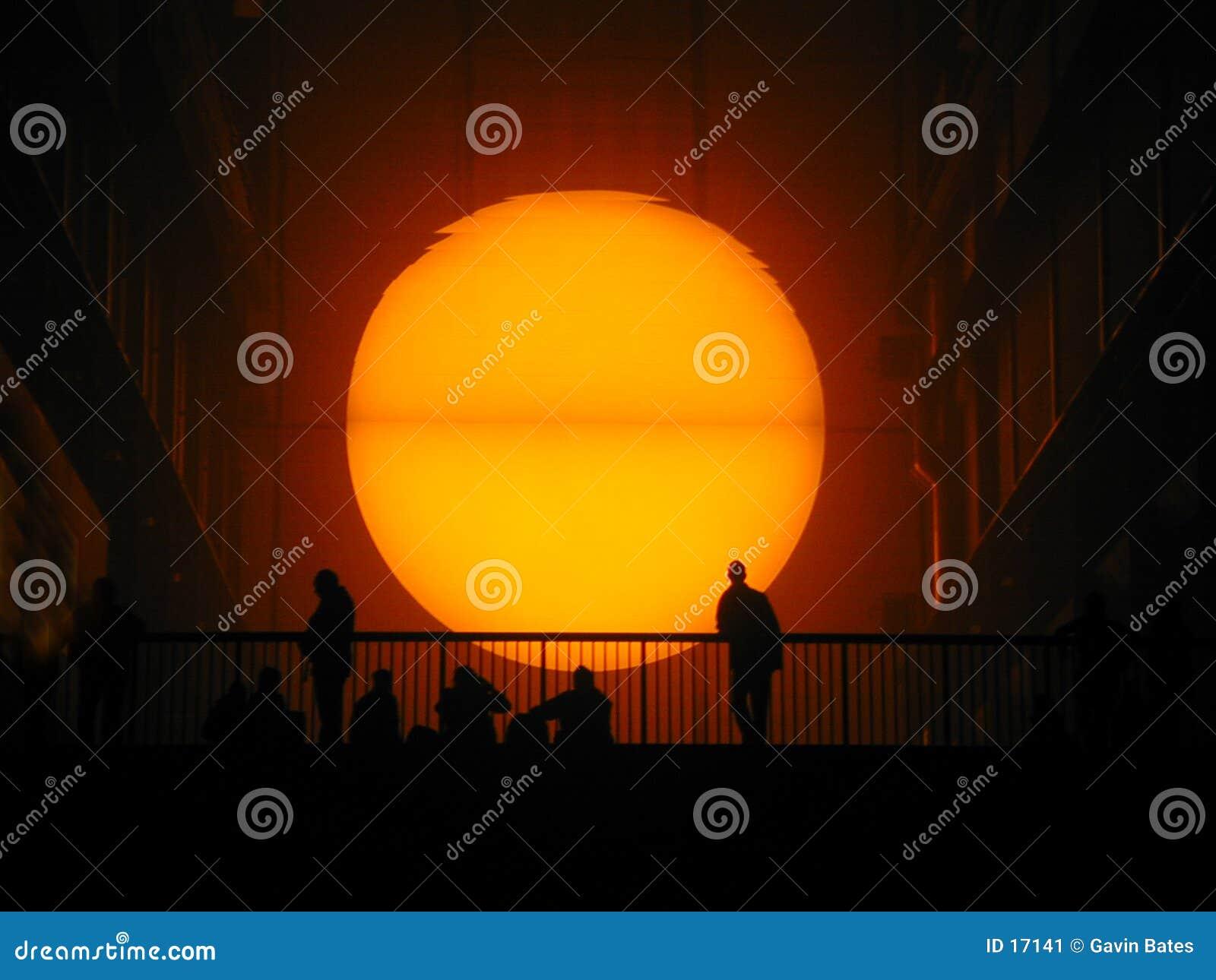 Sun fijó en el Tate Modern
