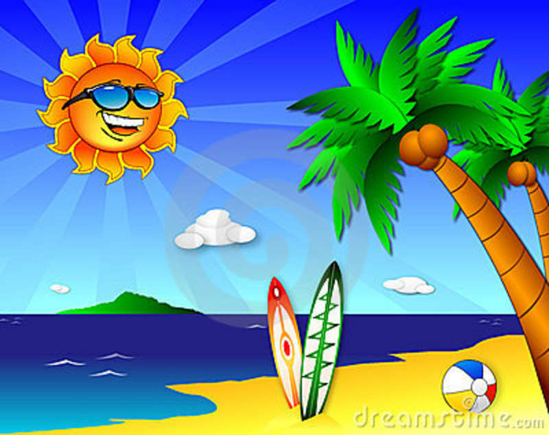 sun and fun on the beach stock vector illustration of clear 10839335