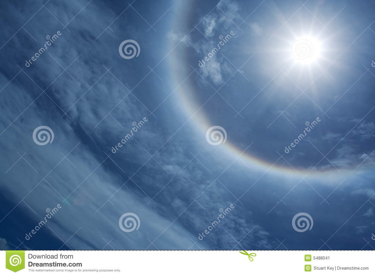 Download Sun halo stock image. Image of sunburn, atmosphere, cloudy - 5488041