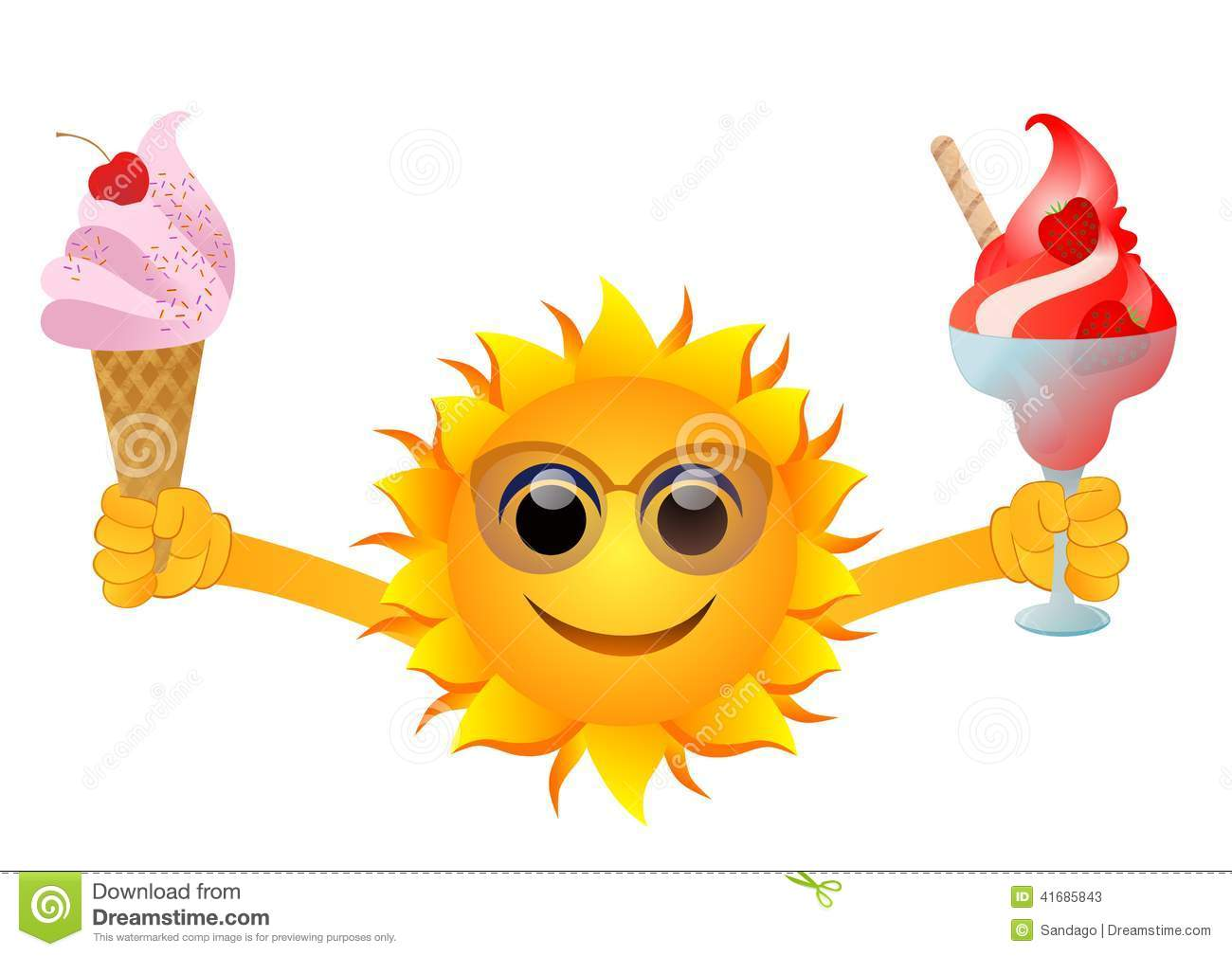 Image result for sun and ice cream
