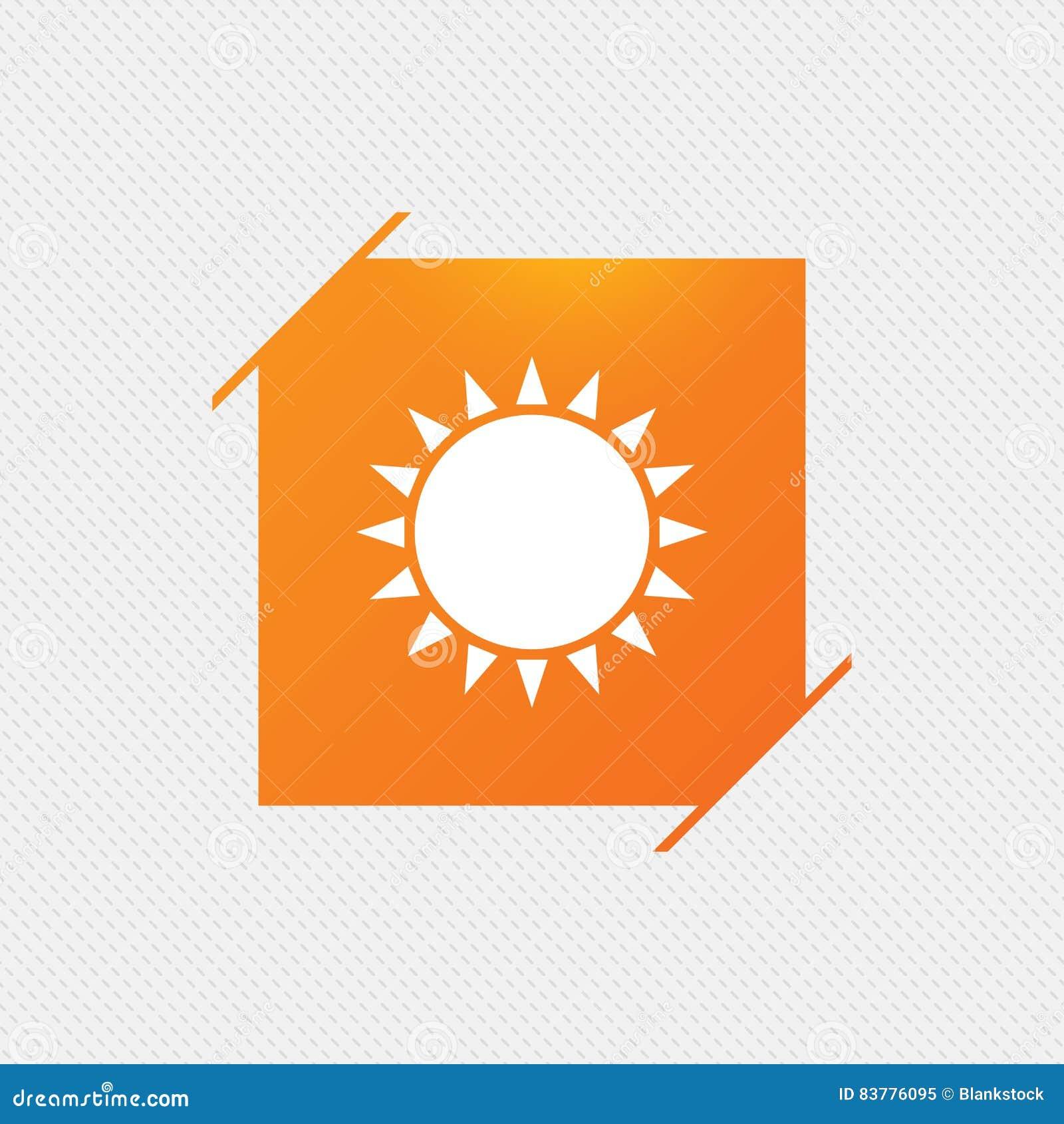 Sun Icon Sunlight Summer Symbol Stock Vector Illustration Of
