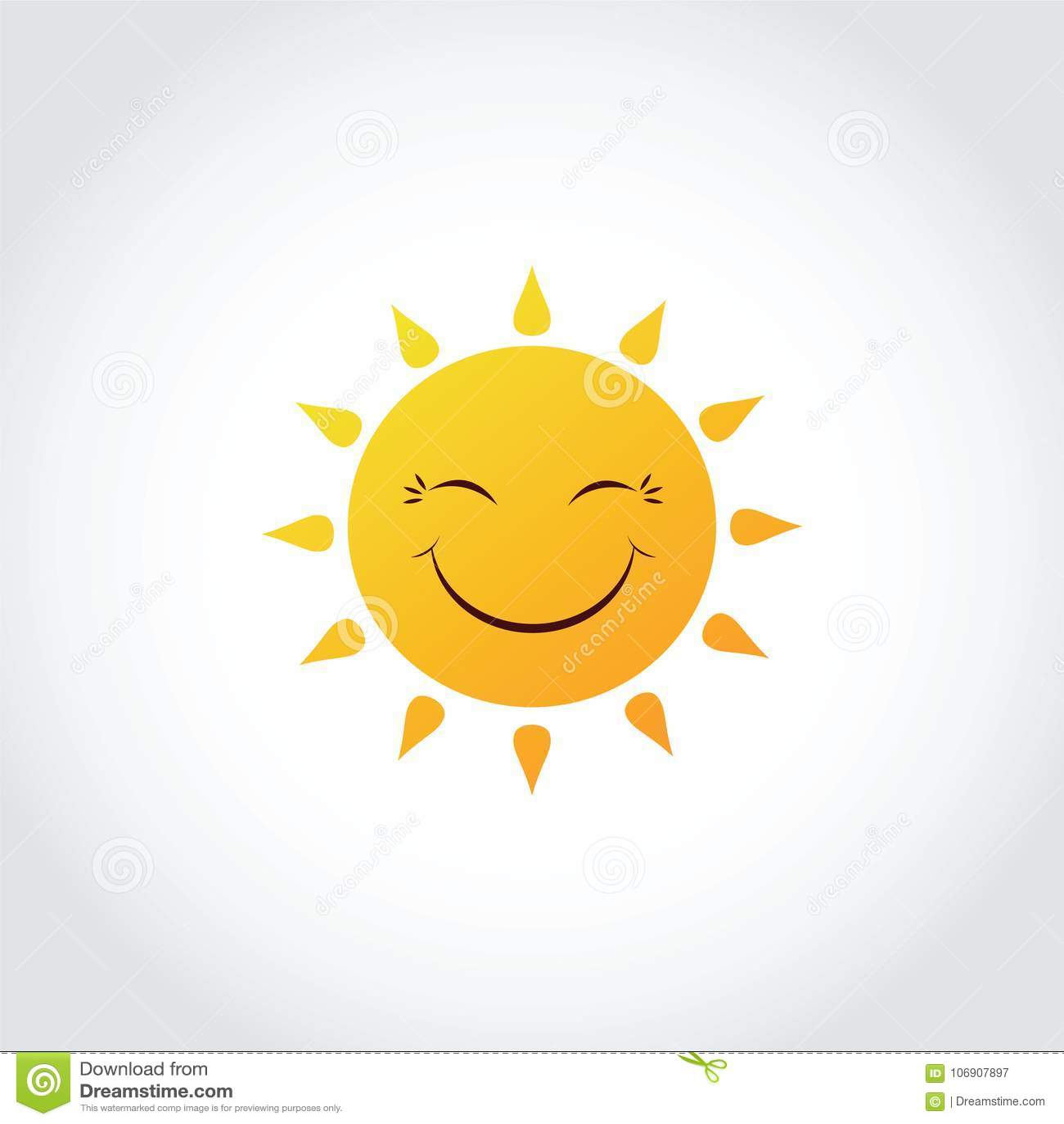 Sun-Lächeln-Ausdruck-Clipart-Gefühl Vektorillustrator ENV 1 Vektor ...