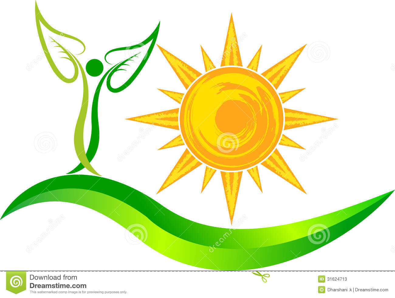 sun leaf logo stock vector image of ecological global