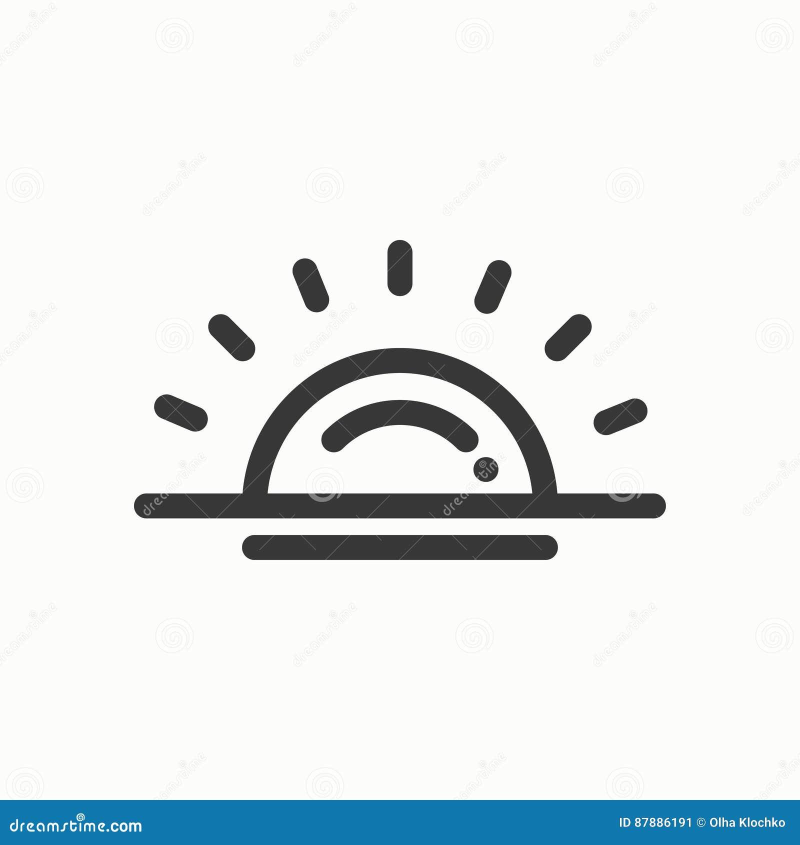 Sun Line Simple Icon  Weather Symbols  Sunrise, Sunset
