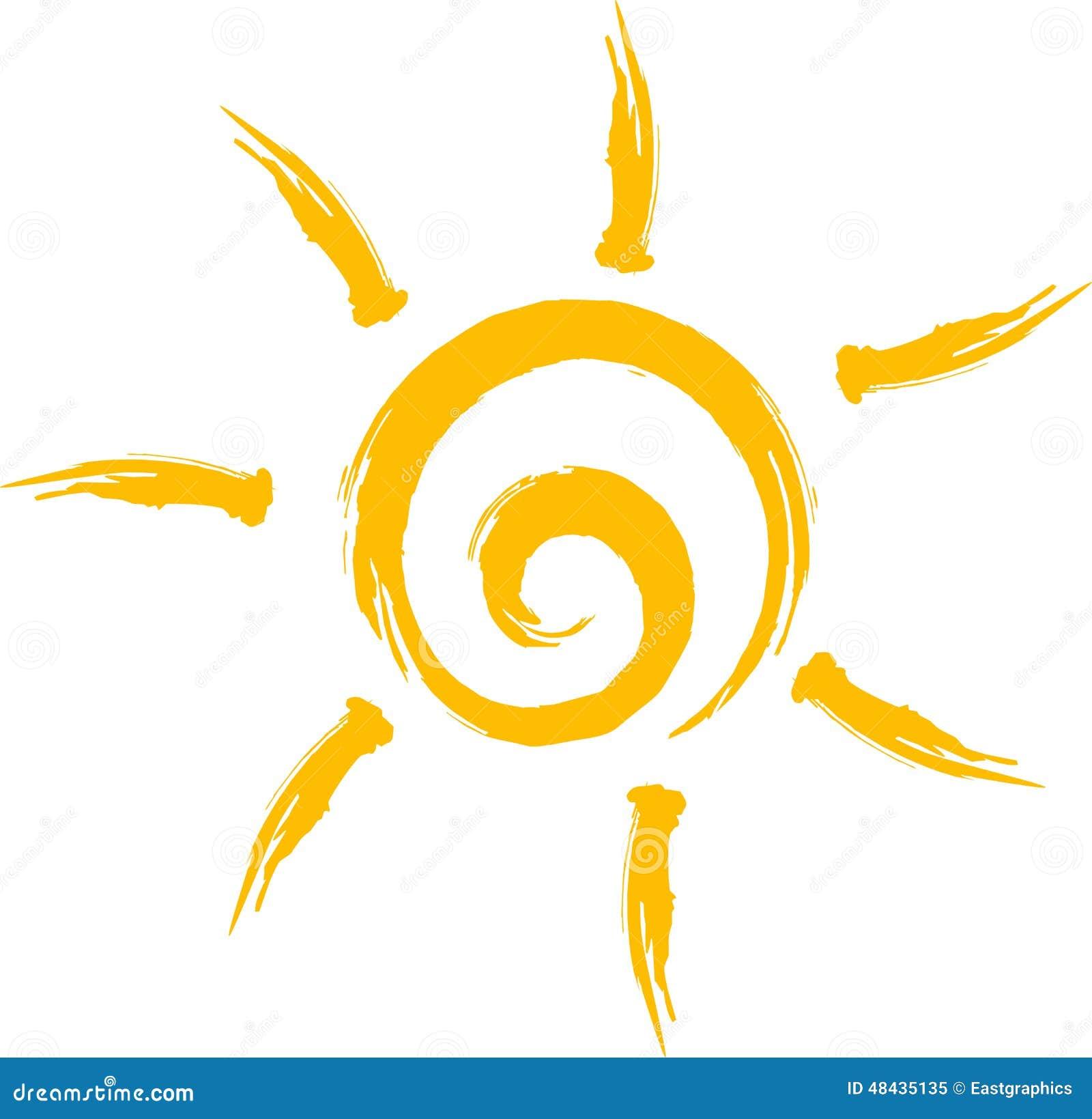 Sun Logo Stock Vector - Image: 48435135