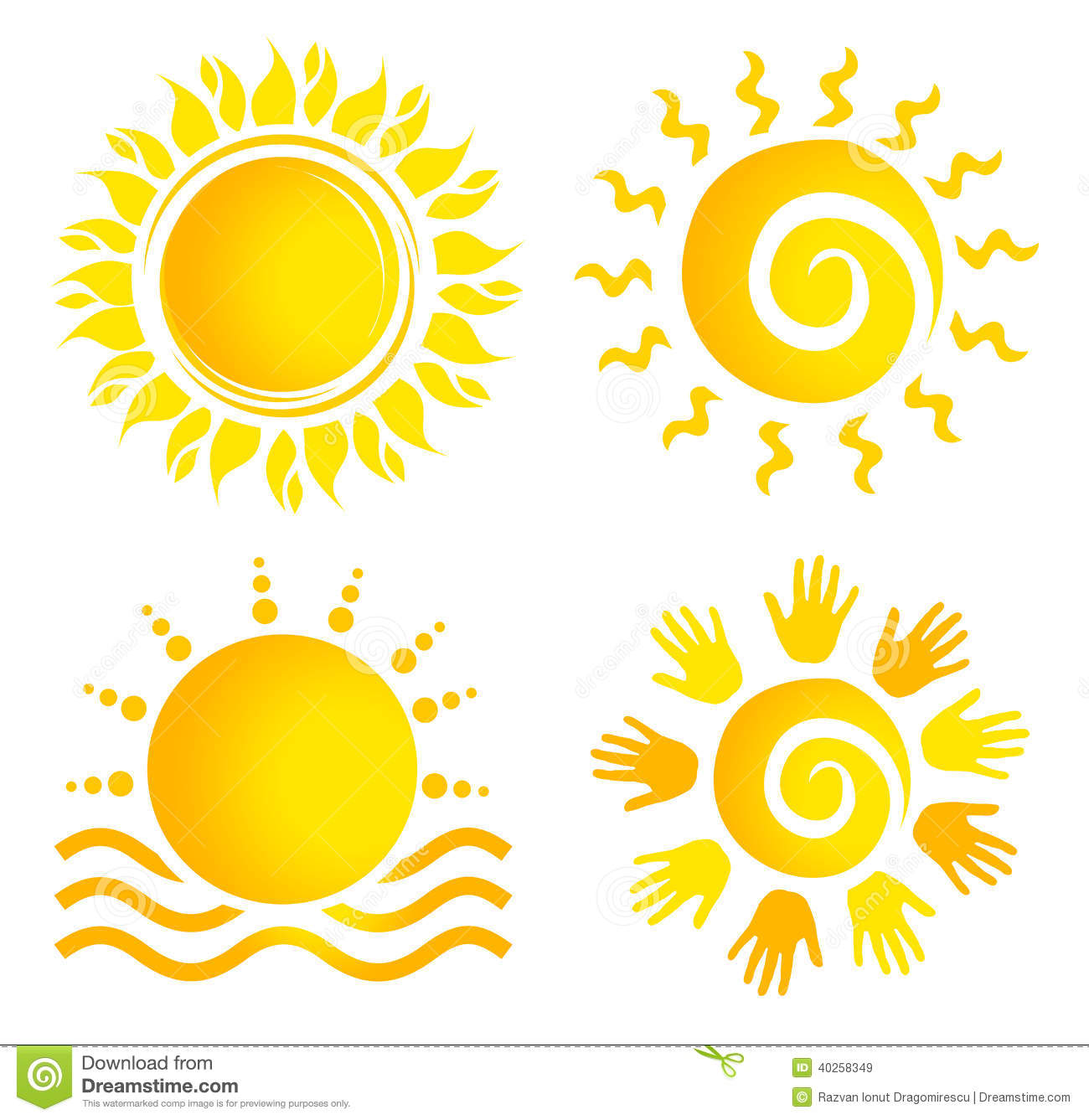 ... representing an abstract people sun logo with multiple colours