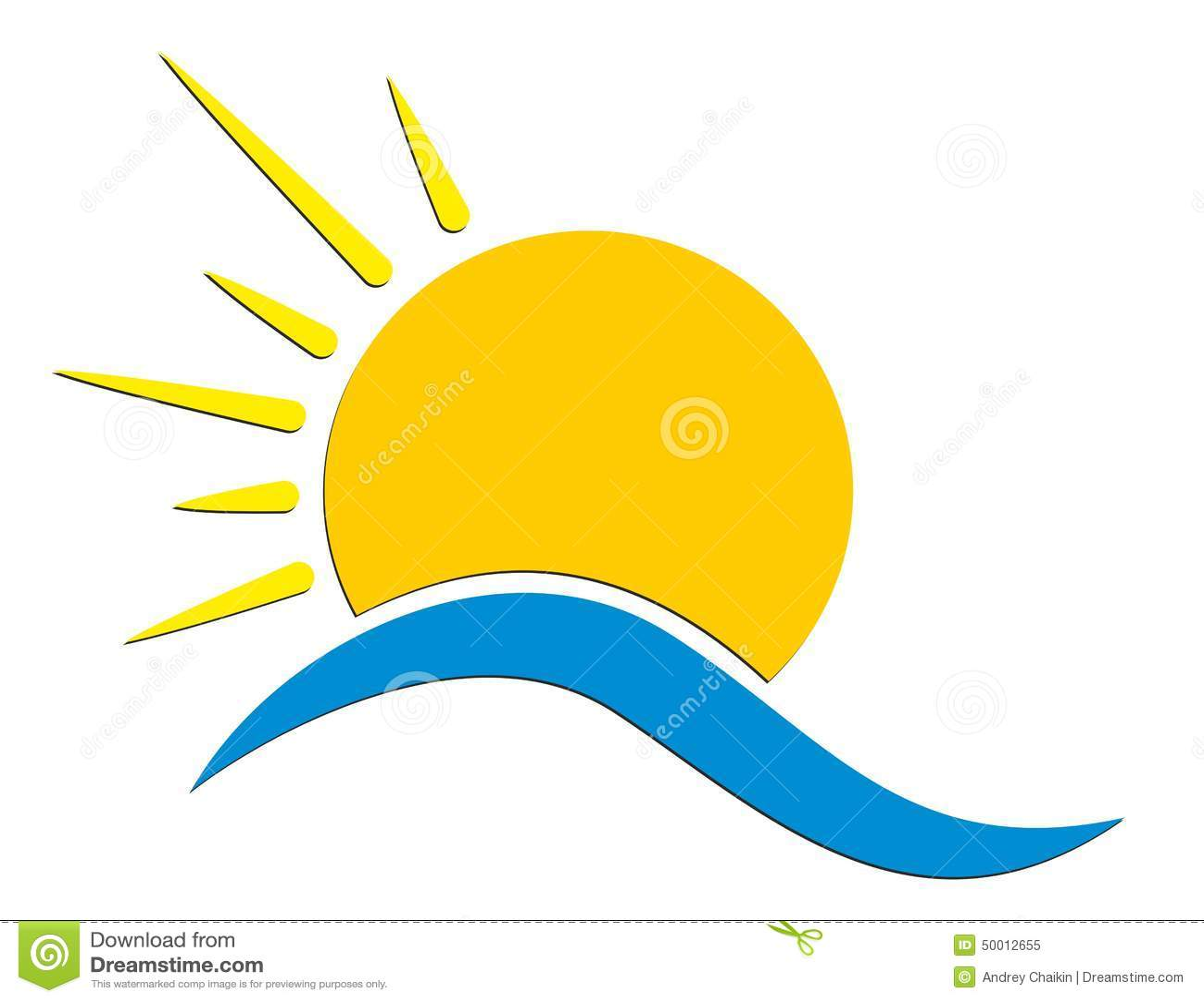 sun logo stock vector illustration of blue sunlight