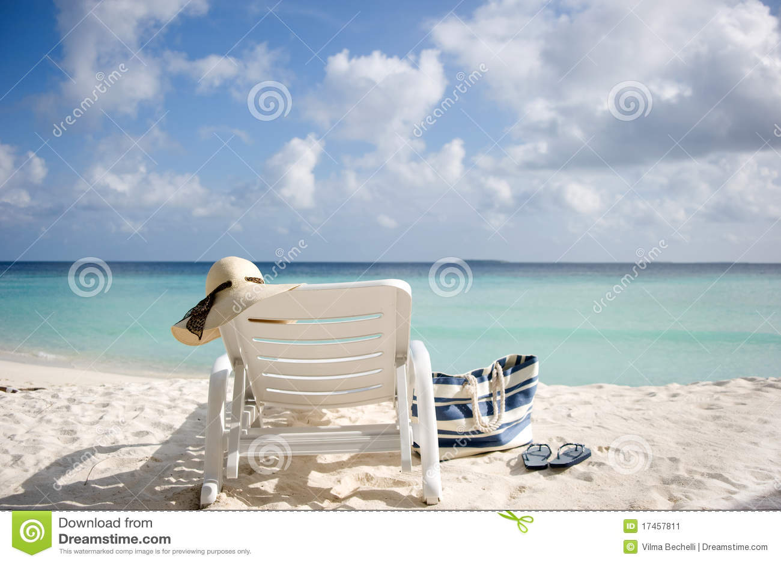 Sun Lounger On The Beach Stock Image Image 17457811