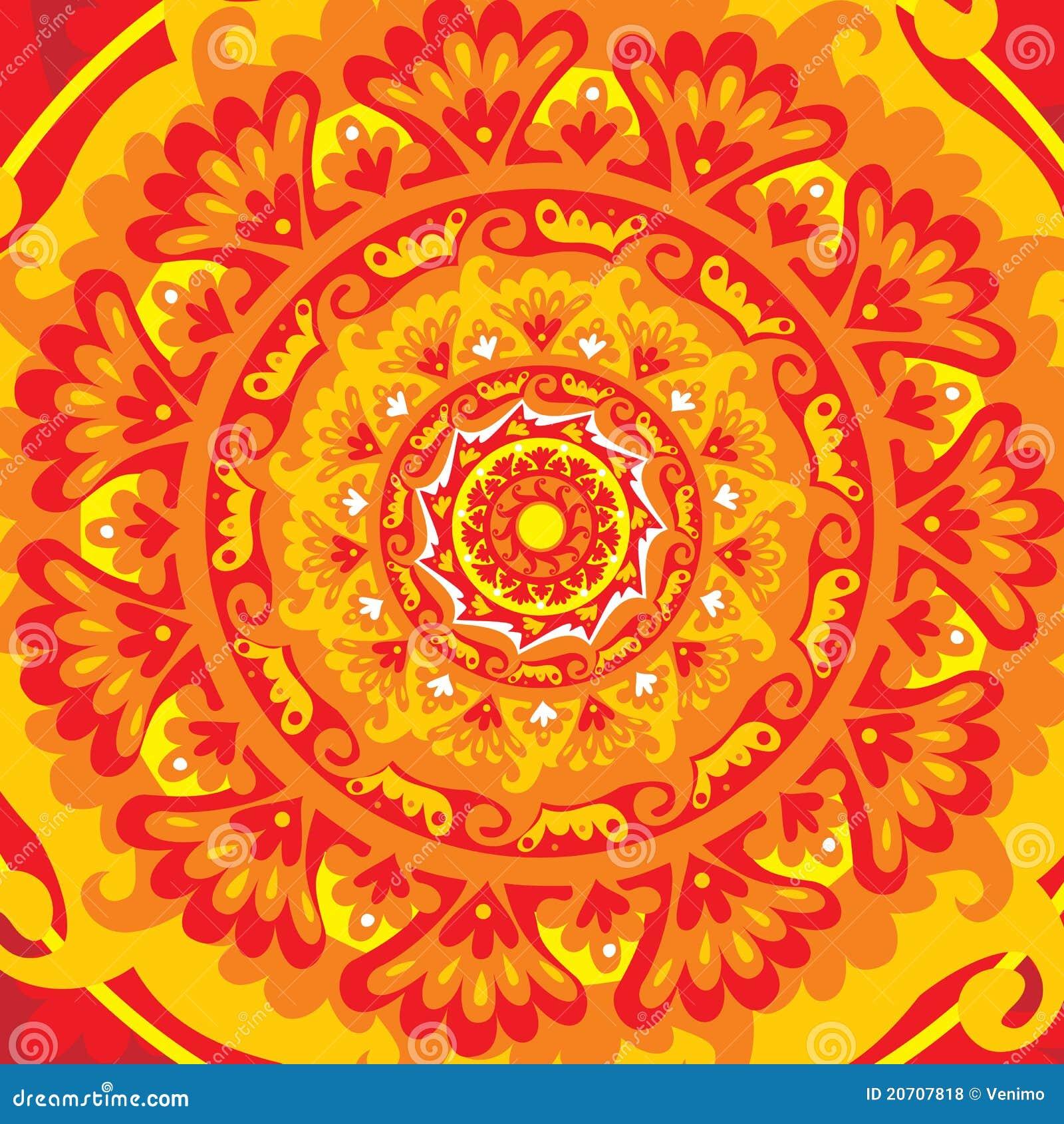 Sun Mandala Royalty Free Stock Photos Image 20707818