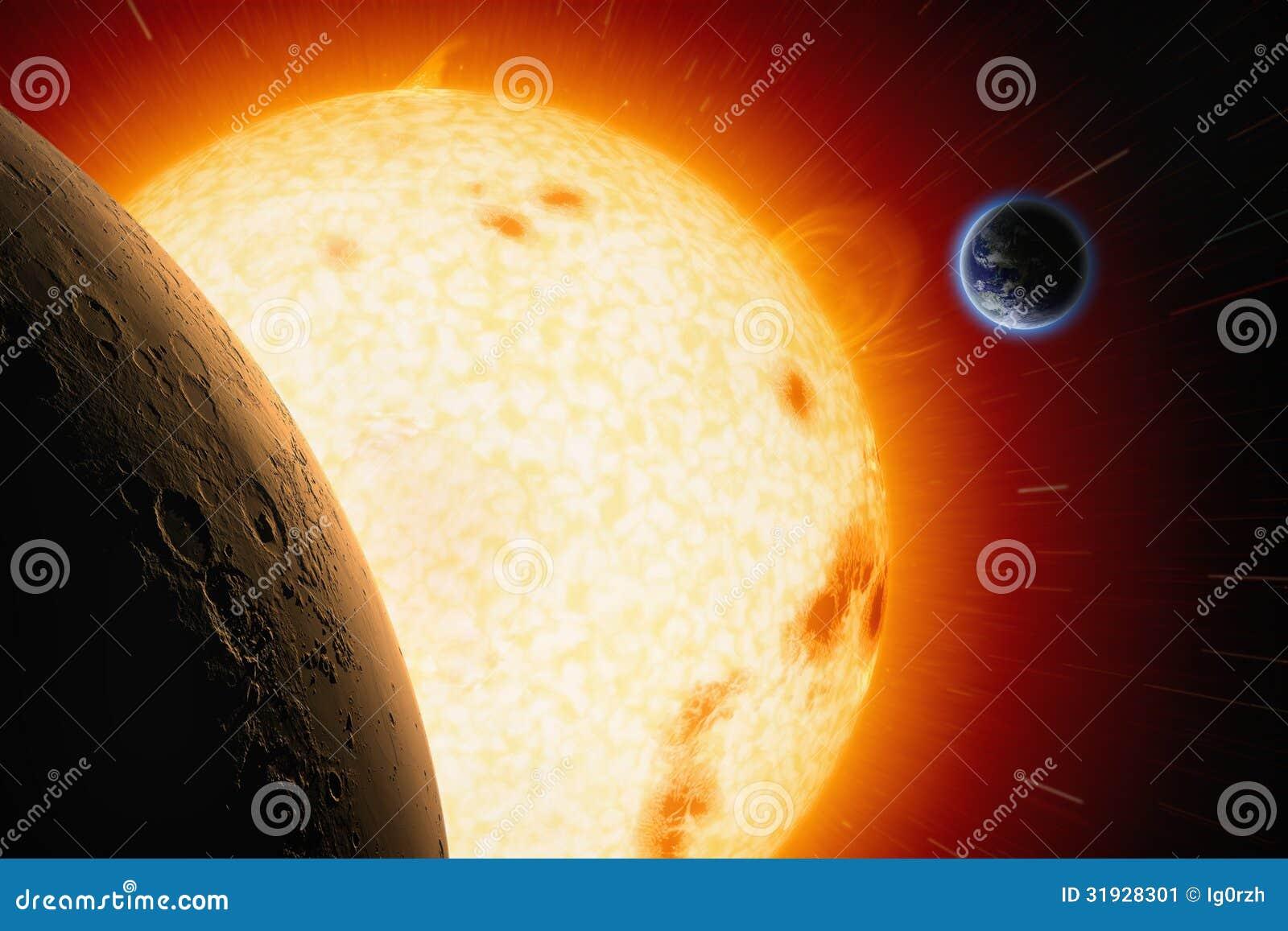 Sun, Marte, tierra