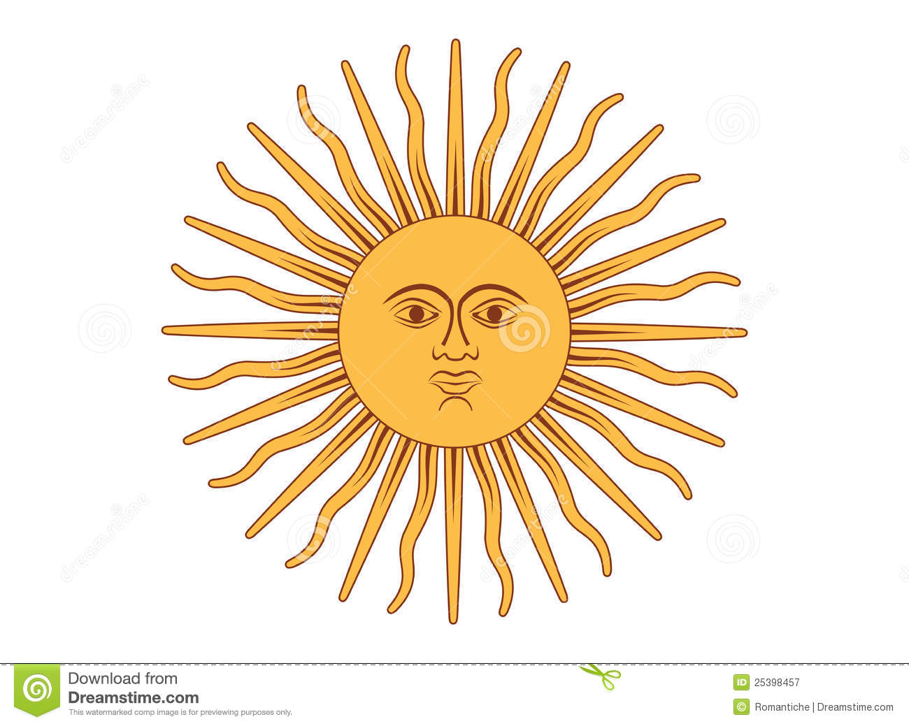 Royalty Free Stock Photography  Sun of MayArgentina Symbol