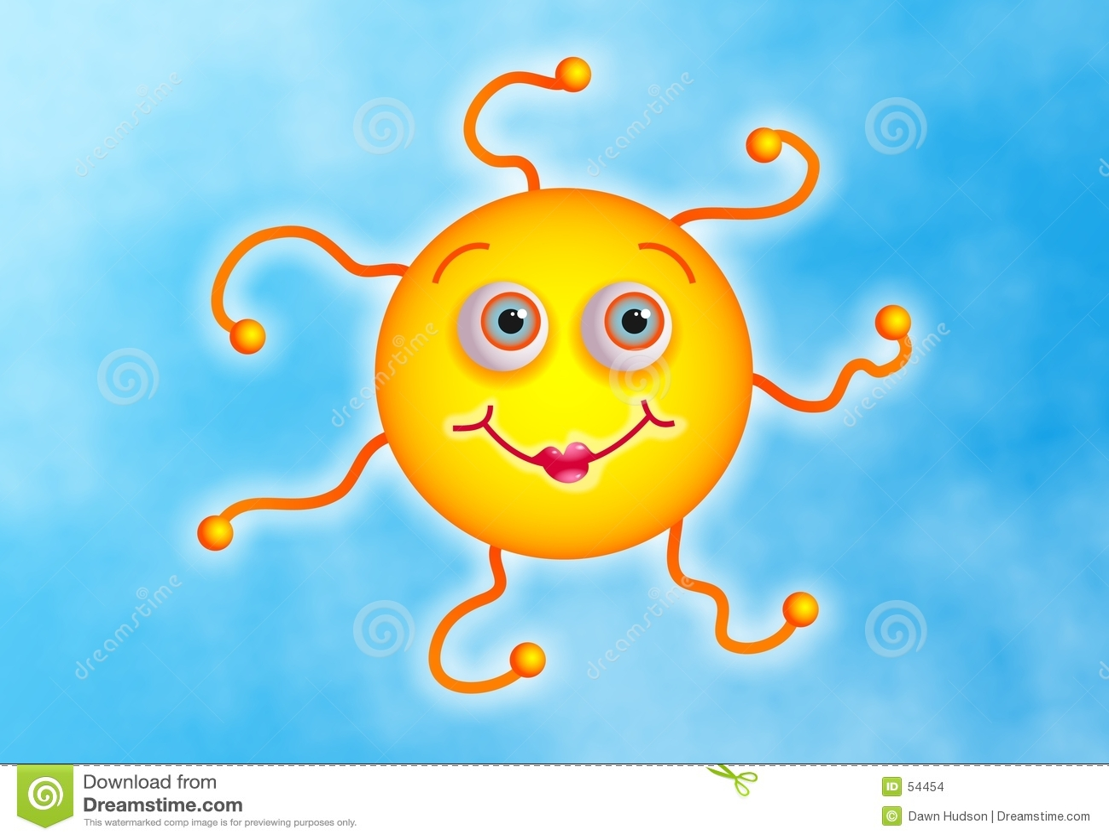 Download Sun mignon illustration stock. Illustration du saisonnier - 54454