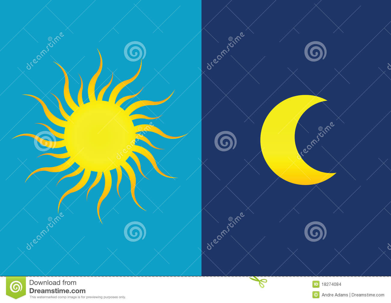 Sun & Moon Stock Images - Image: 18274084