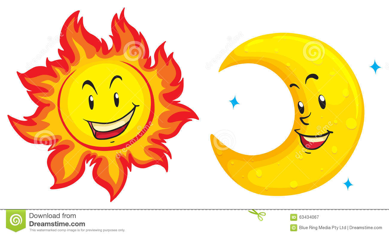 Sun And Moon Clipart - Synkee