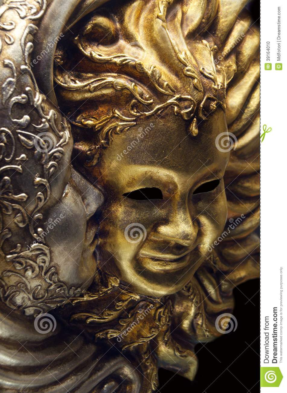 Sun And Moon Mask On Venice Carnival Stock Photo - Image ...