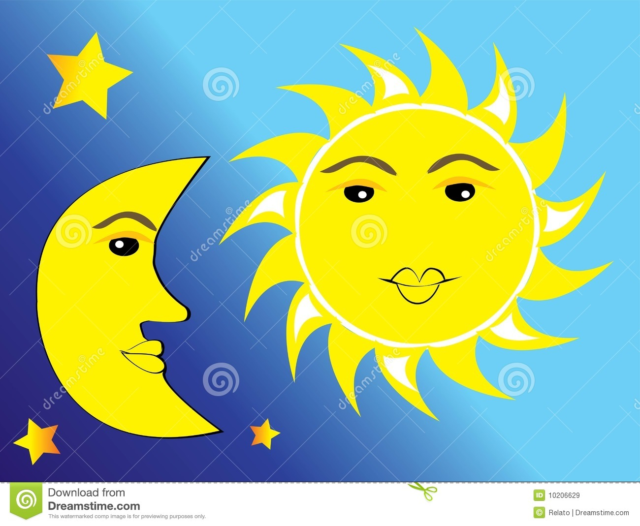 Worksheets Sun Moon And Stars sun moon and stars royalty free stock images image 10206629 stars