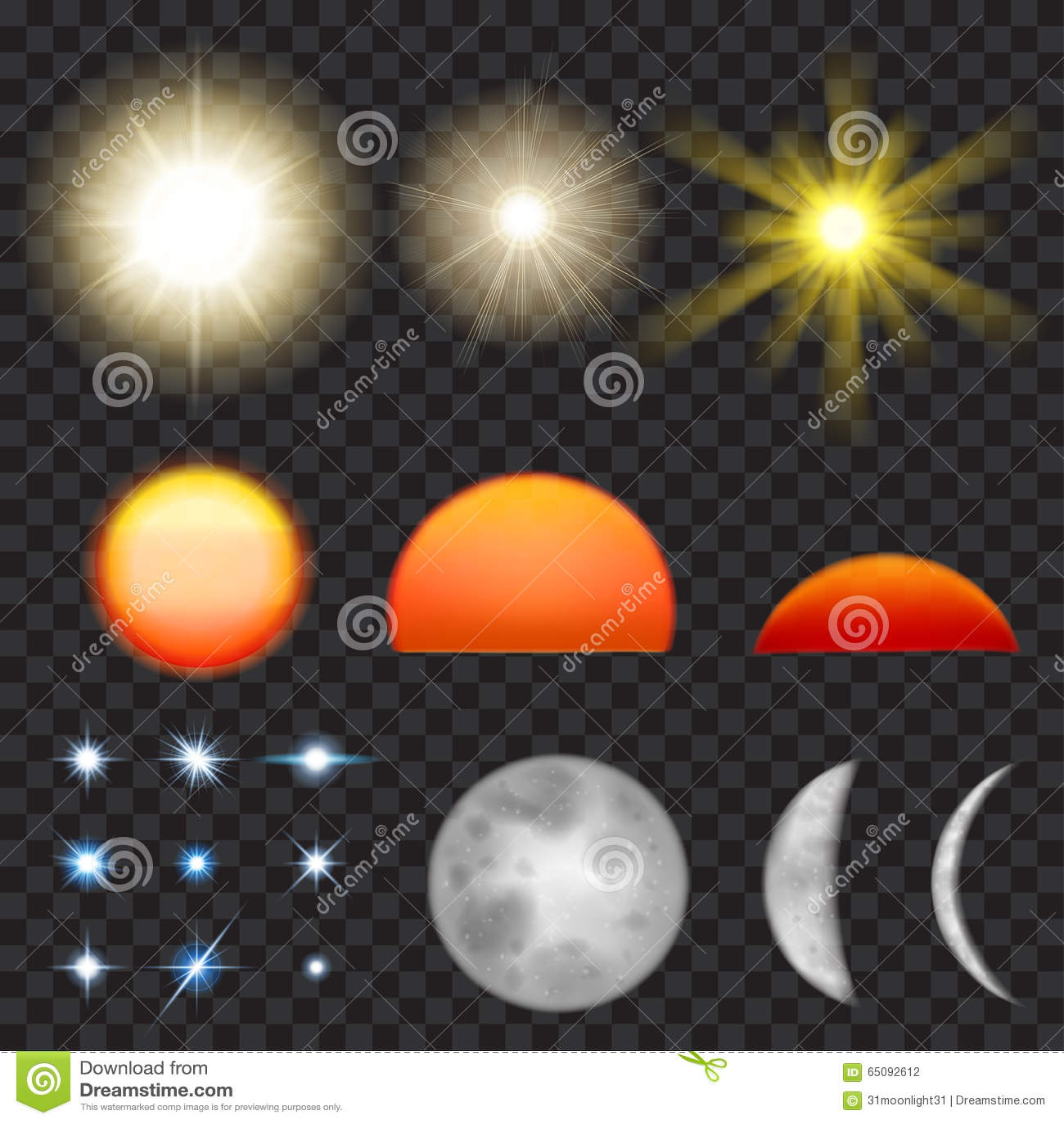 star background sun moon - photo #27