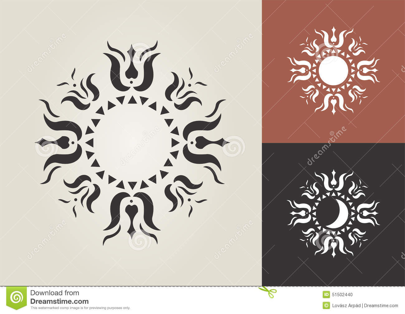 Sun Moon Vector Symbol Stock Illustration Illustration Of Icon