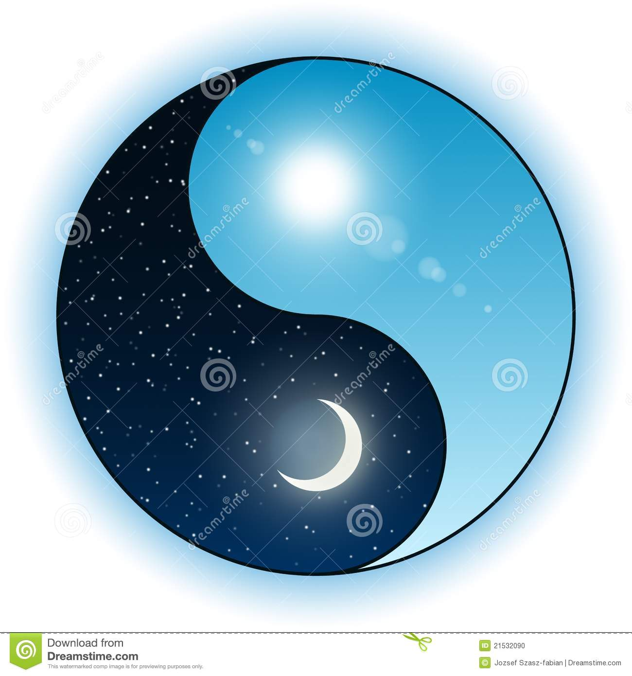 Sun and moon in yin yang symbol stock vector illustration of sun and moon in yin yang symbol biocorpaavc Images