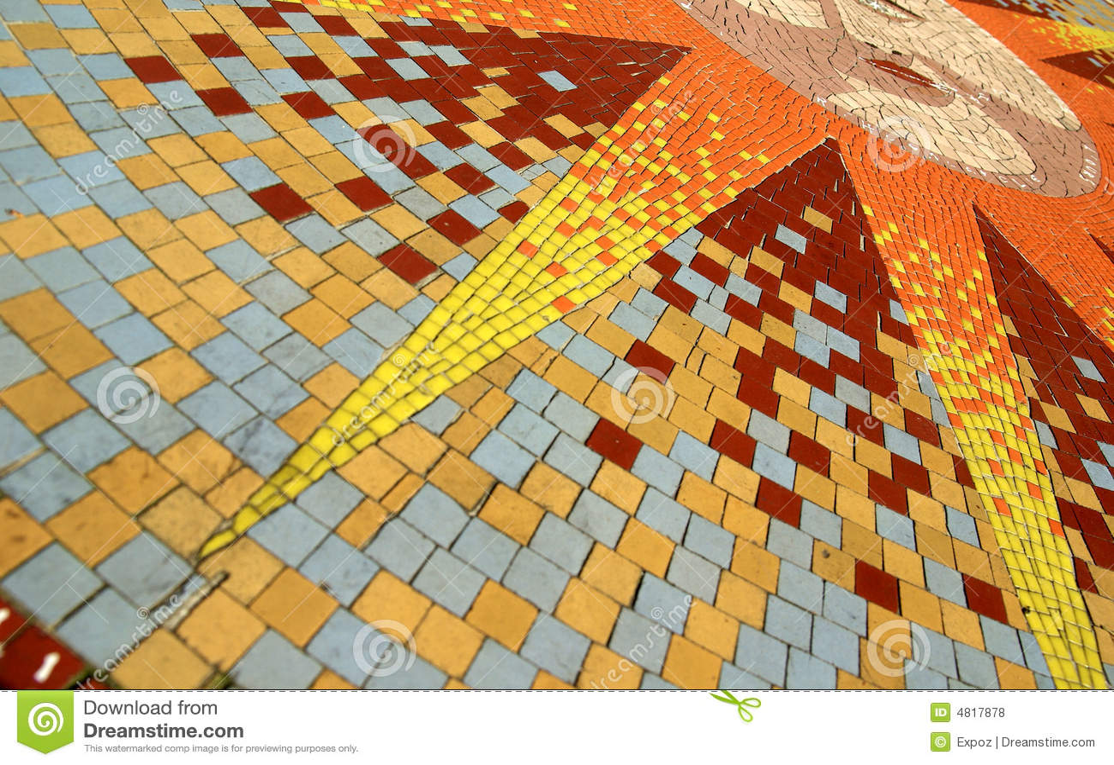 sun mosaic stock illustration illustration of glass