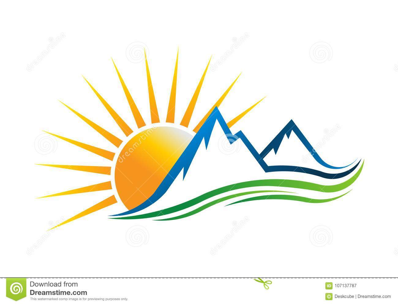 sun mountains logo vector illustration stock vector illustration rh dreamstime com sun chemical logo vector sun free vector art