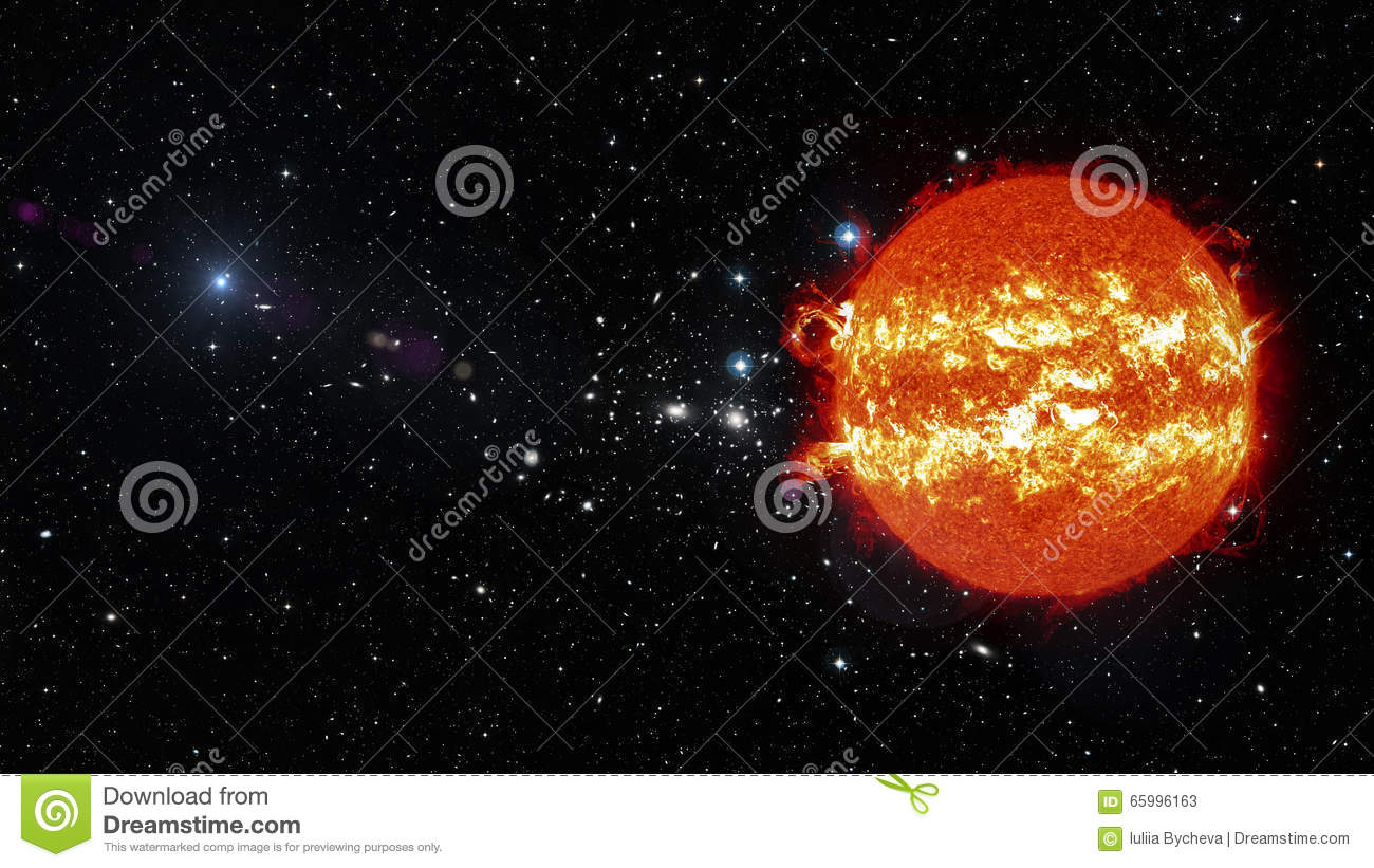 Sun in outer space elements of this image furnished by for Outer space elements