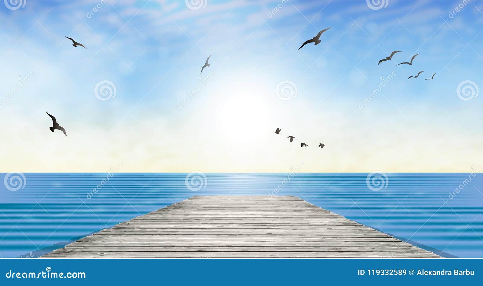 Sun over water horizon landscape wallpaper stock vector download sun over water horizon landscape wallpaper stock vector illustration of holiday emotion altavistaventures Gallery