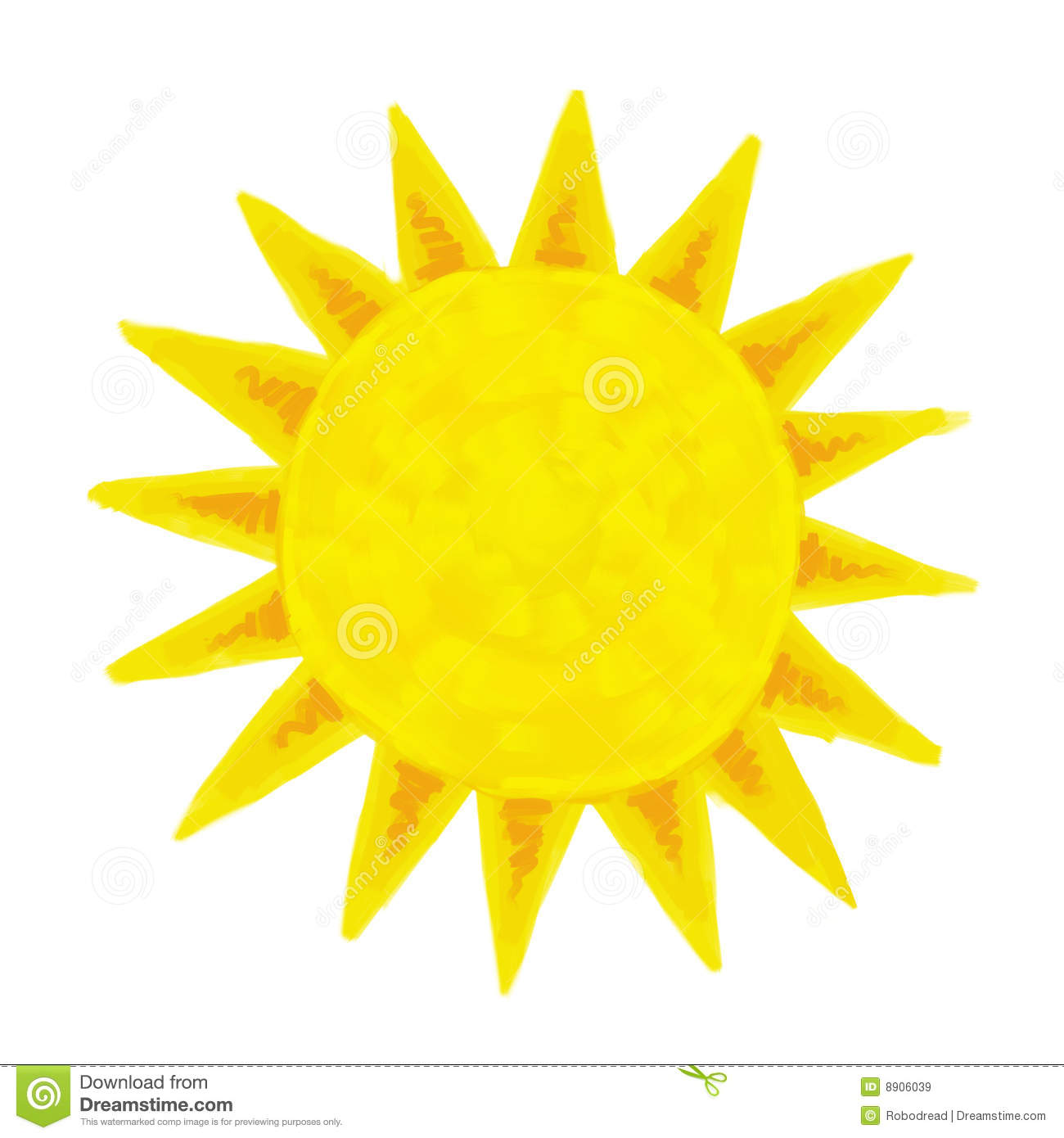 Sun Painting Royalty Free Stock Images Image 8906039