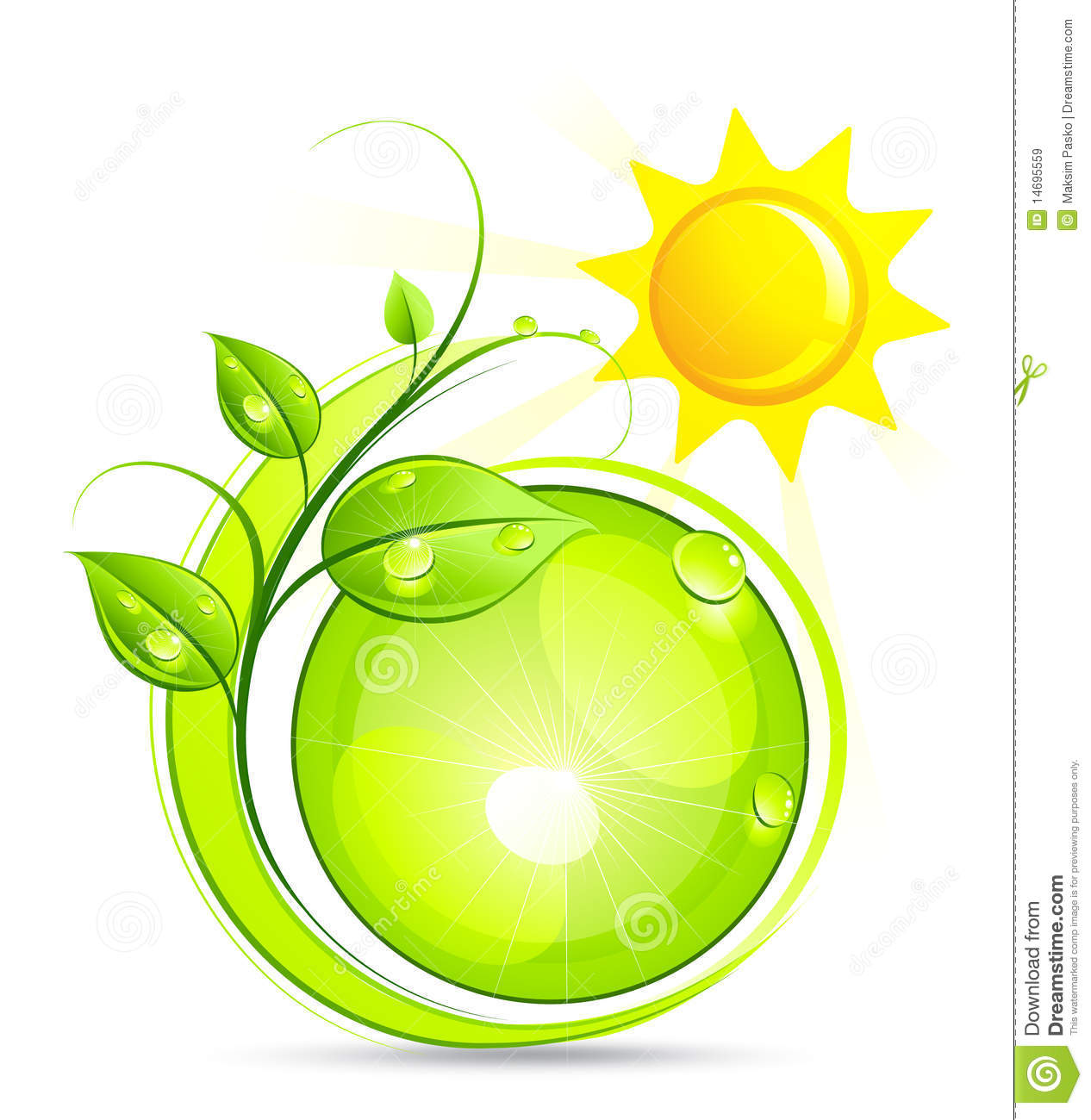 Sun And Plant Illustration Royalty Free Stock Images - Image: 14695559