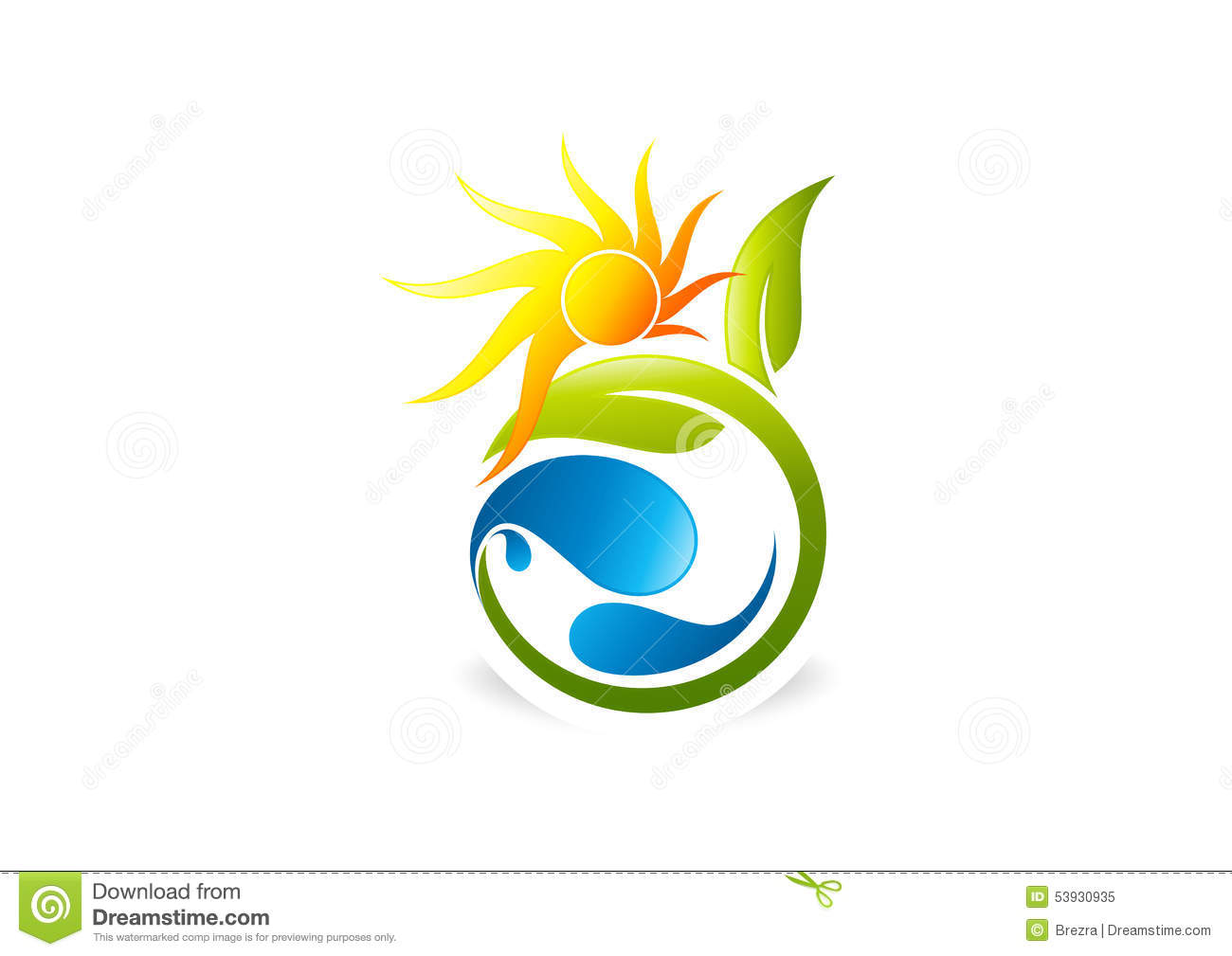 Sun Plant People Water Natural Logo Icon Health Leaf