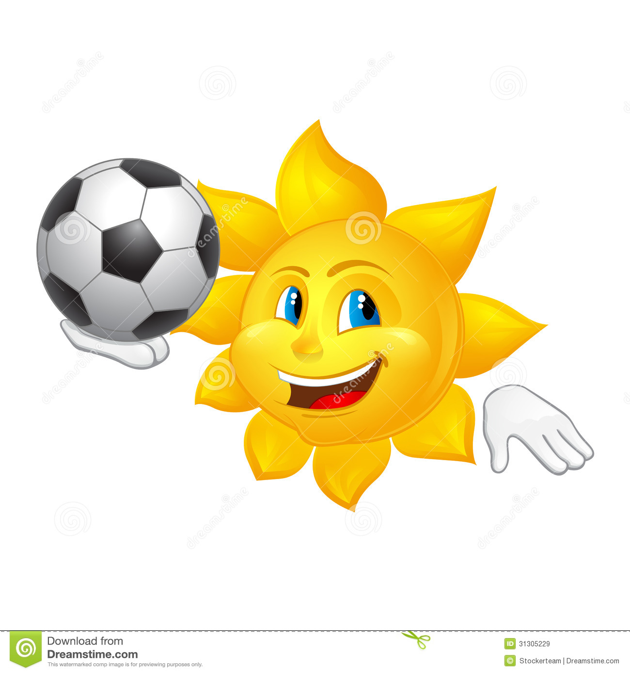 children playing football clipart