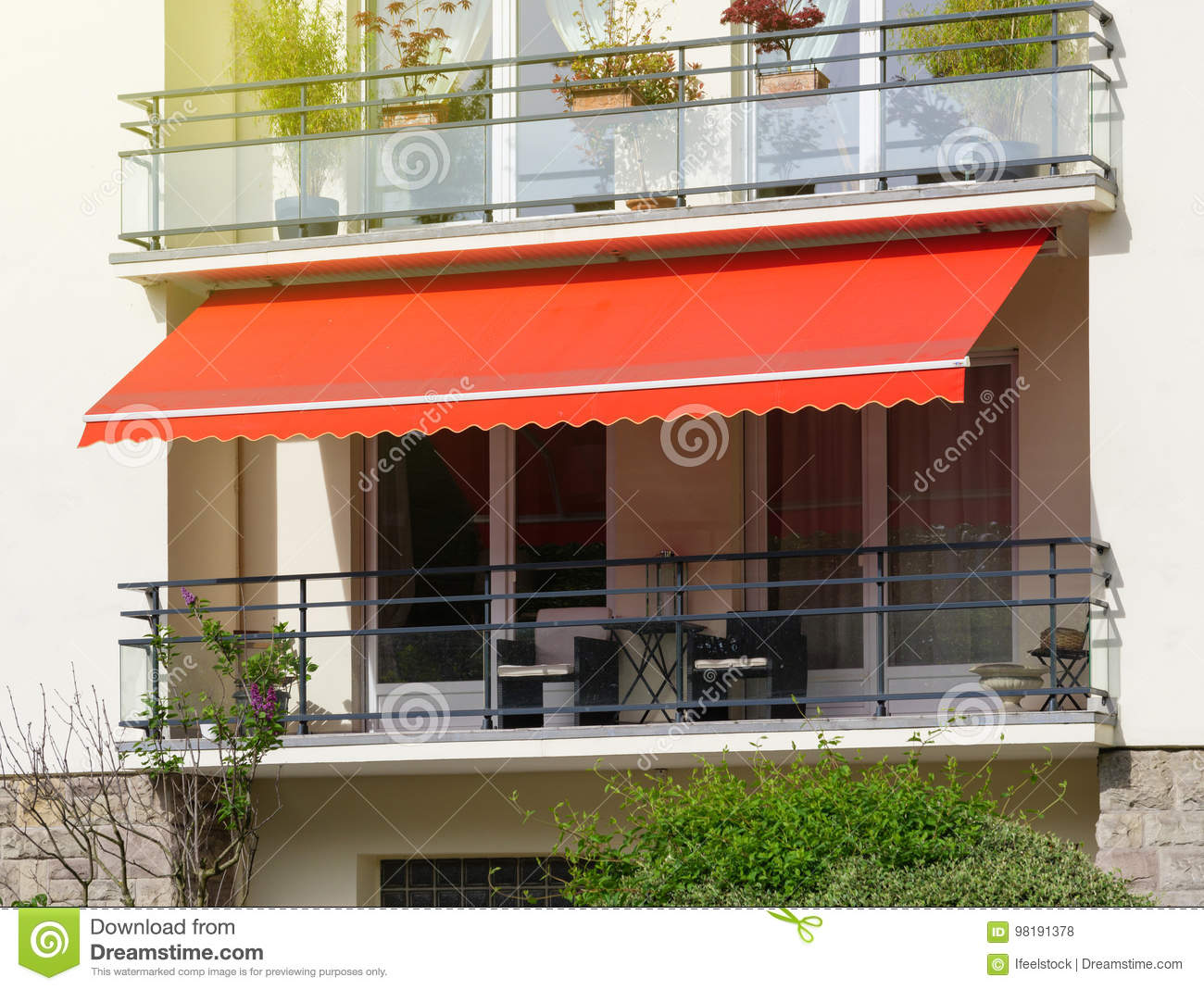 Awnings for sun protection