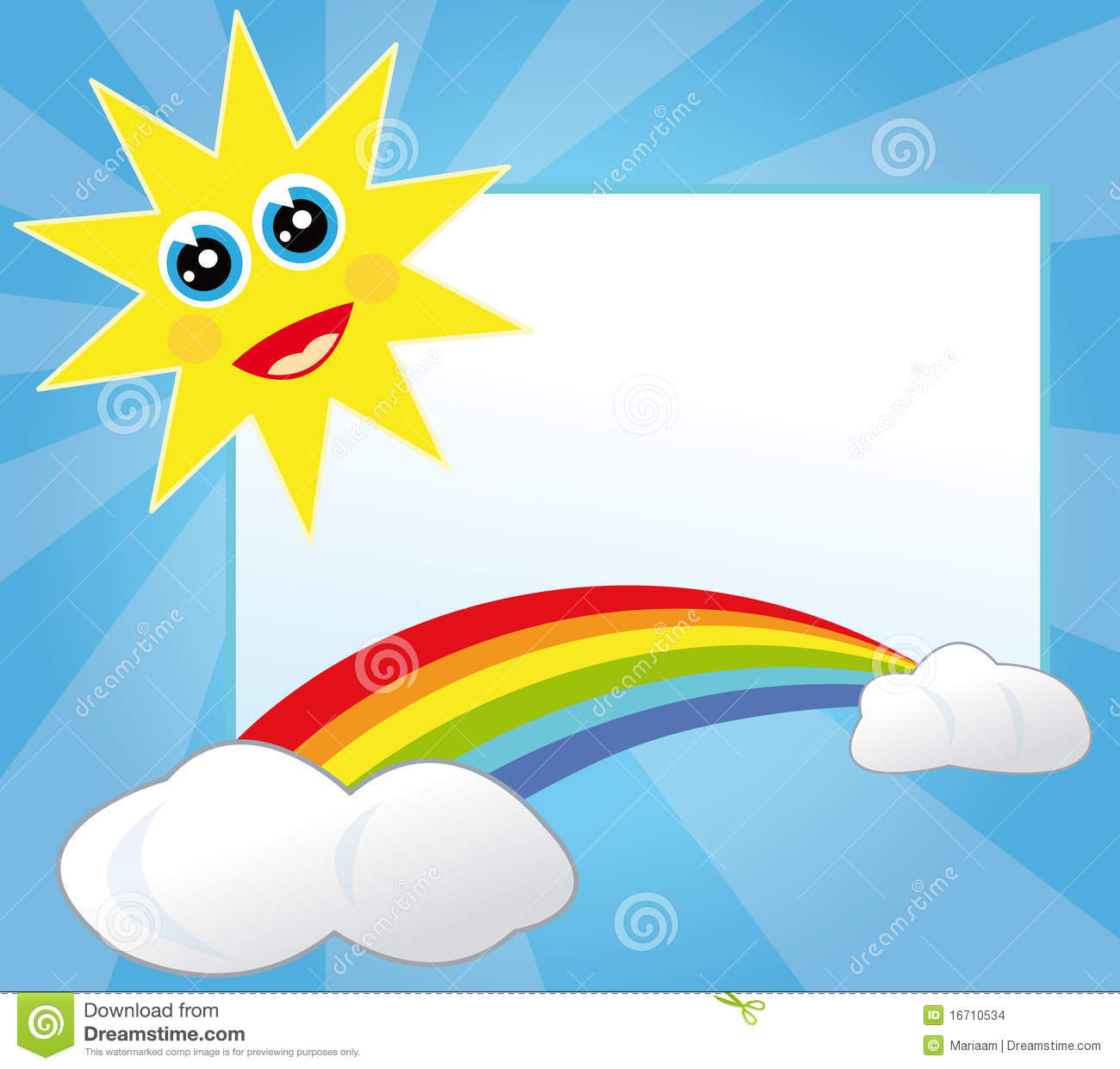 Sun And Rainbow Frame Stock Images - Image: 16710534
