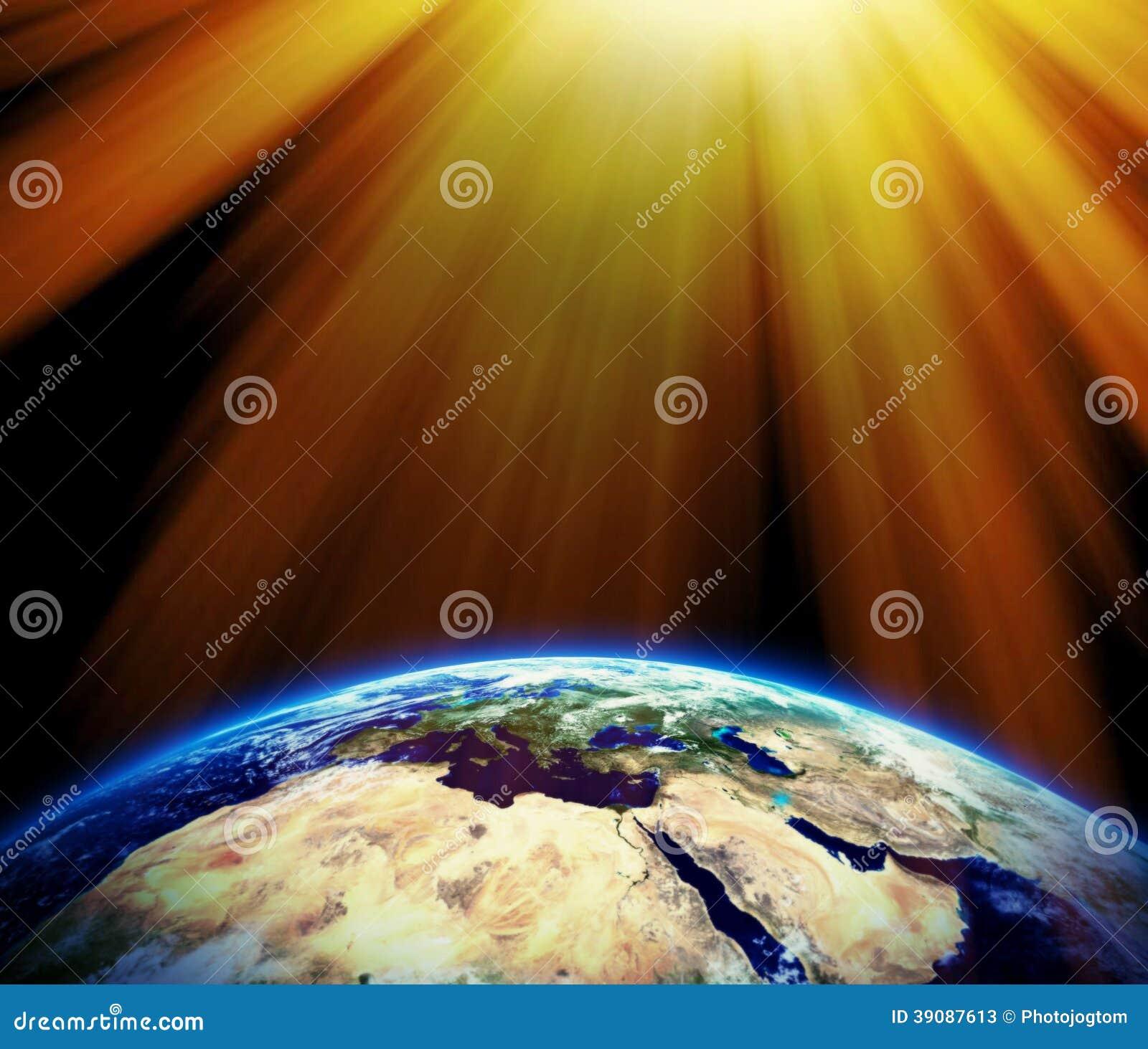 sun rays on earth