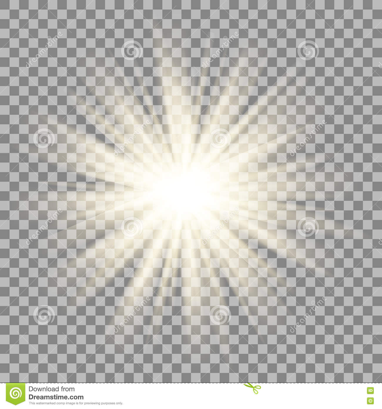 Download Sun Rays On Transparent Background Star Flare Effect Stock Vector