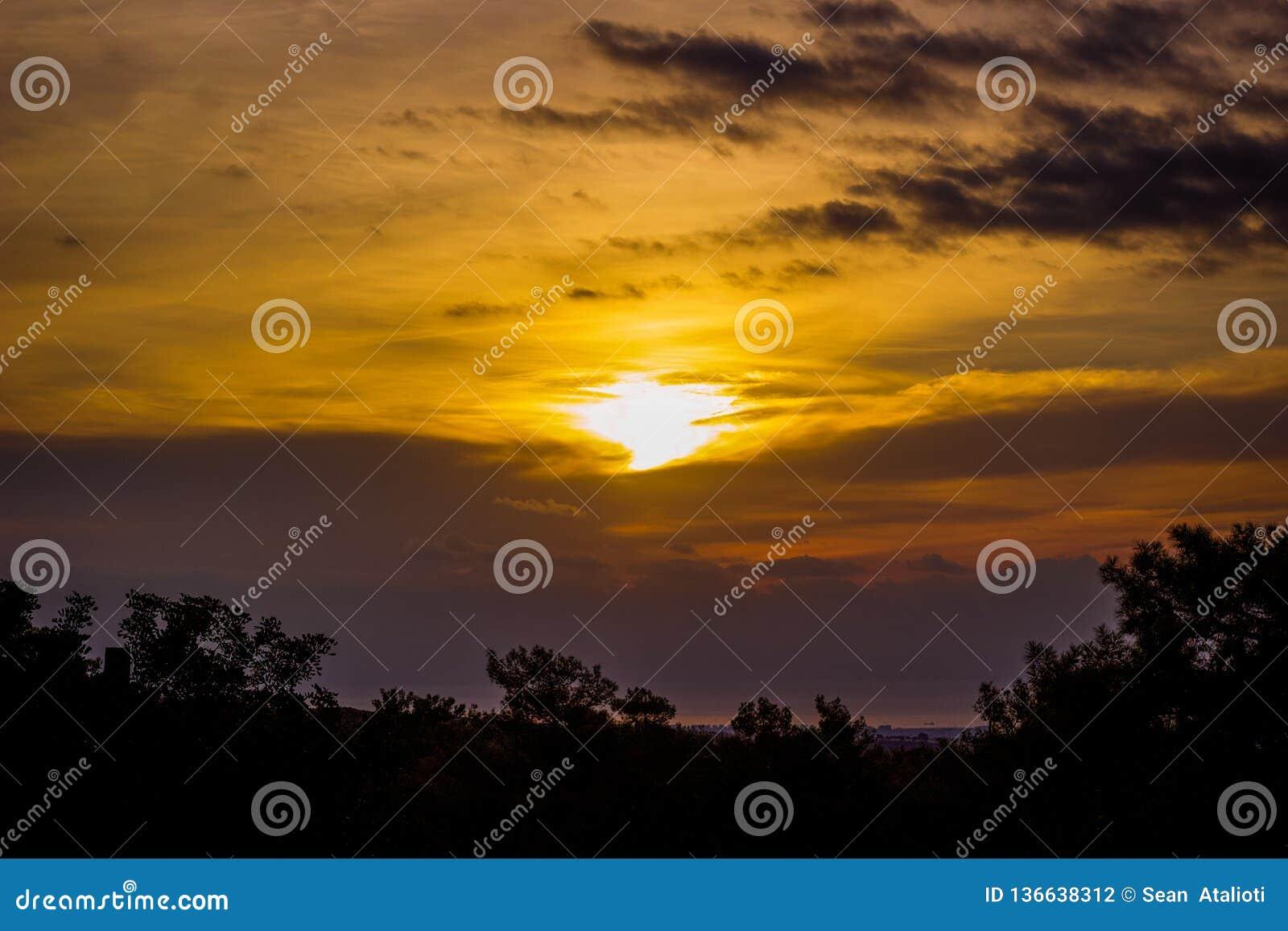 Sun Rise over the Mediterrean Sea
