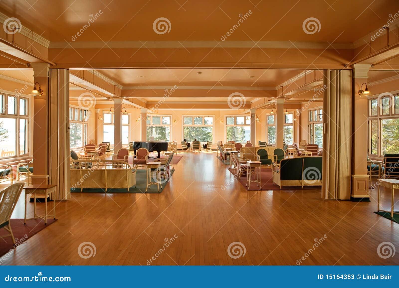 Sun Room Lake Yellowstone Hotel Solarium Stock Photos Image