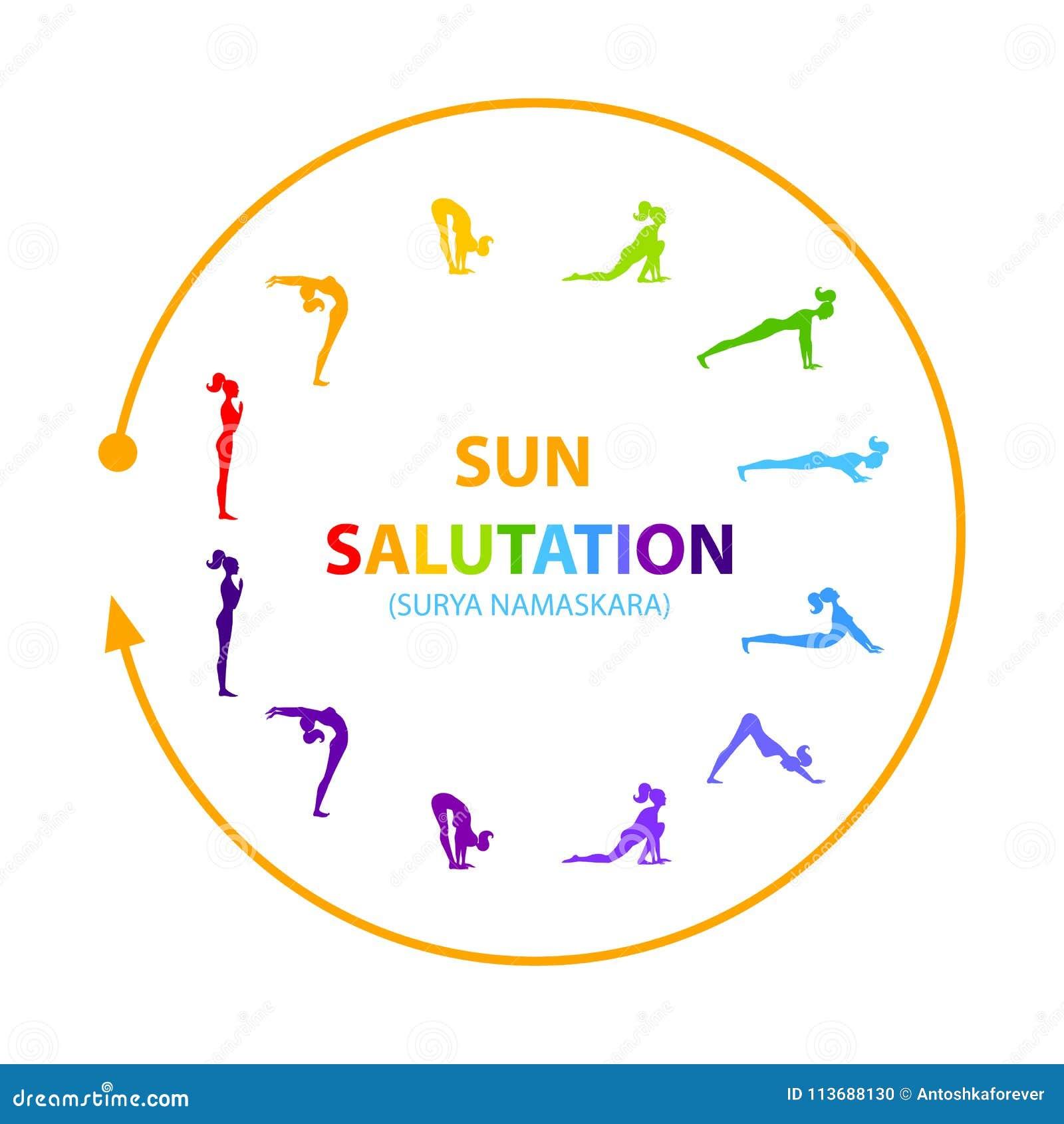 Sun Salutation Vector