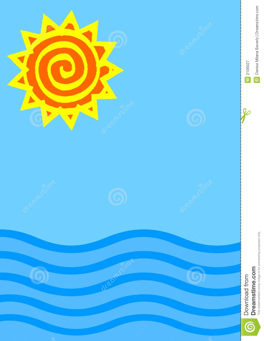 Sun And Sea Illustration Stock Illustration Illustration