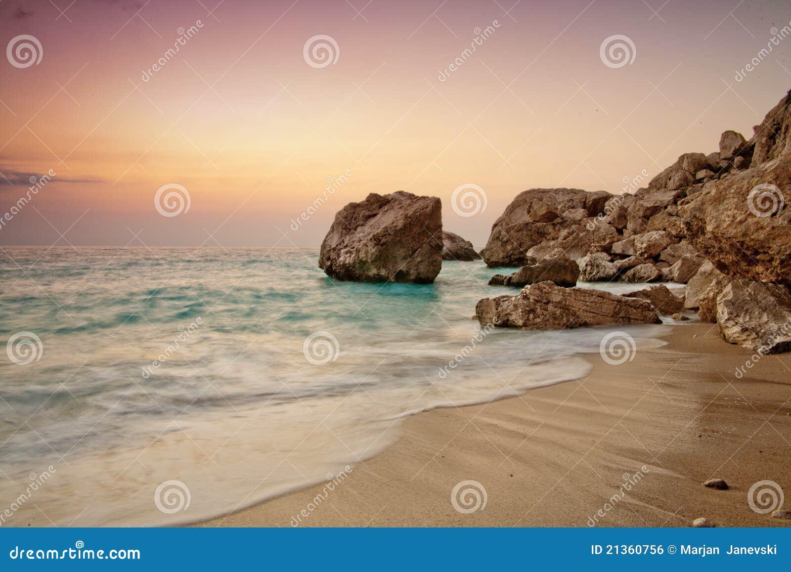 Sun set colors on Kathisma beach